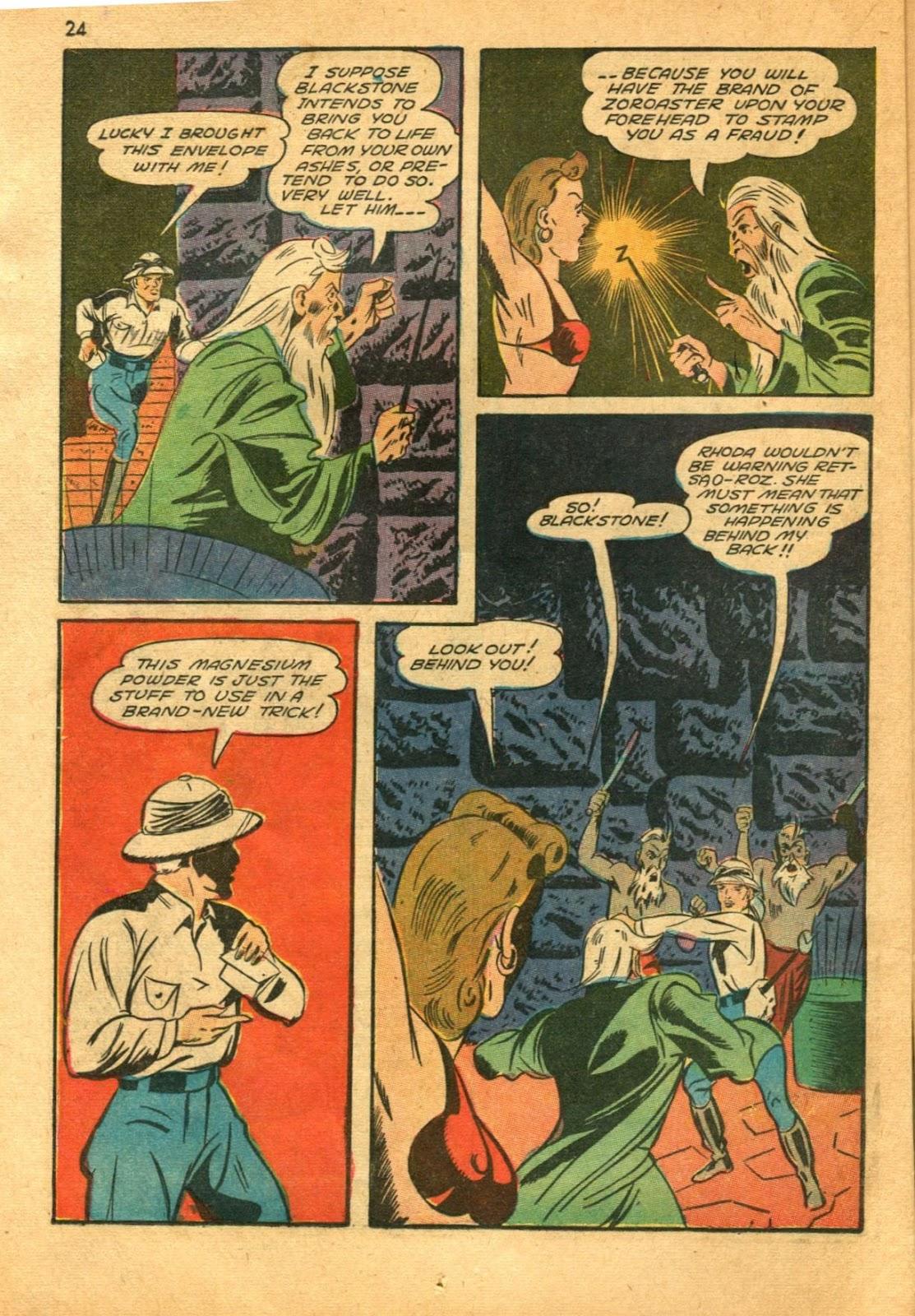 Read online Super-Magician Comics comic -  Issue #11 - 24