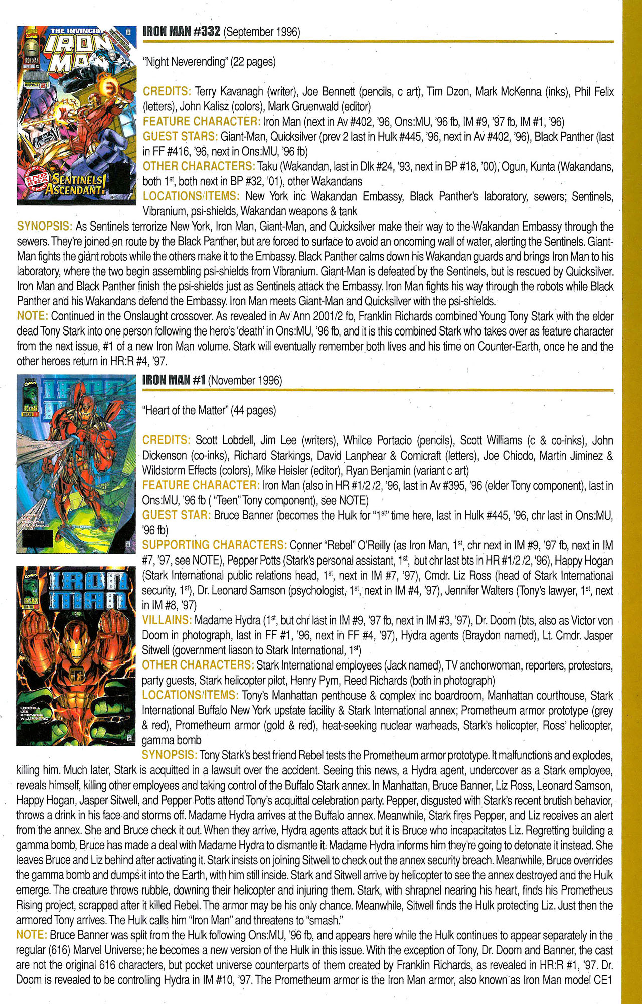 Read online Official Index to the Marvel Universe comic -  Issue #9 - 41