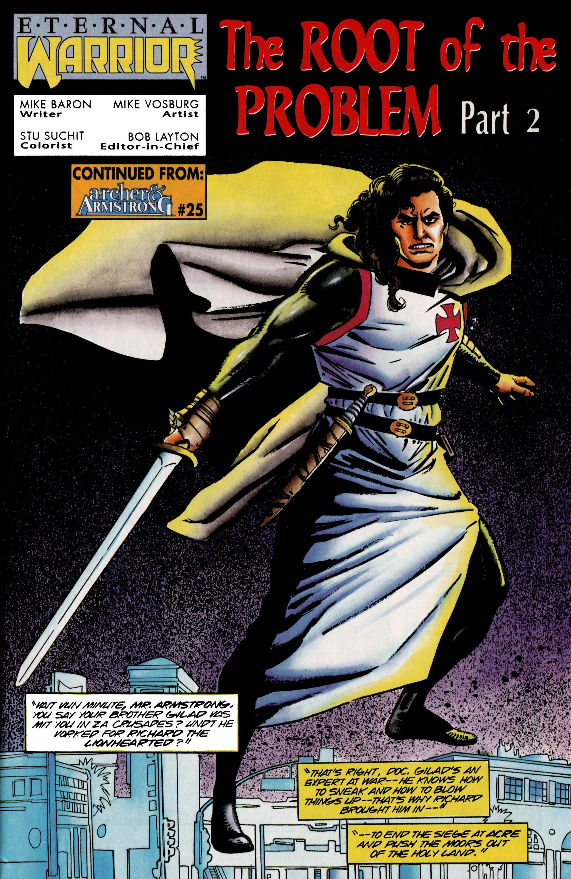Read online Eternal Warrior (1992) comic -  Issue #25 - 2
