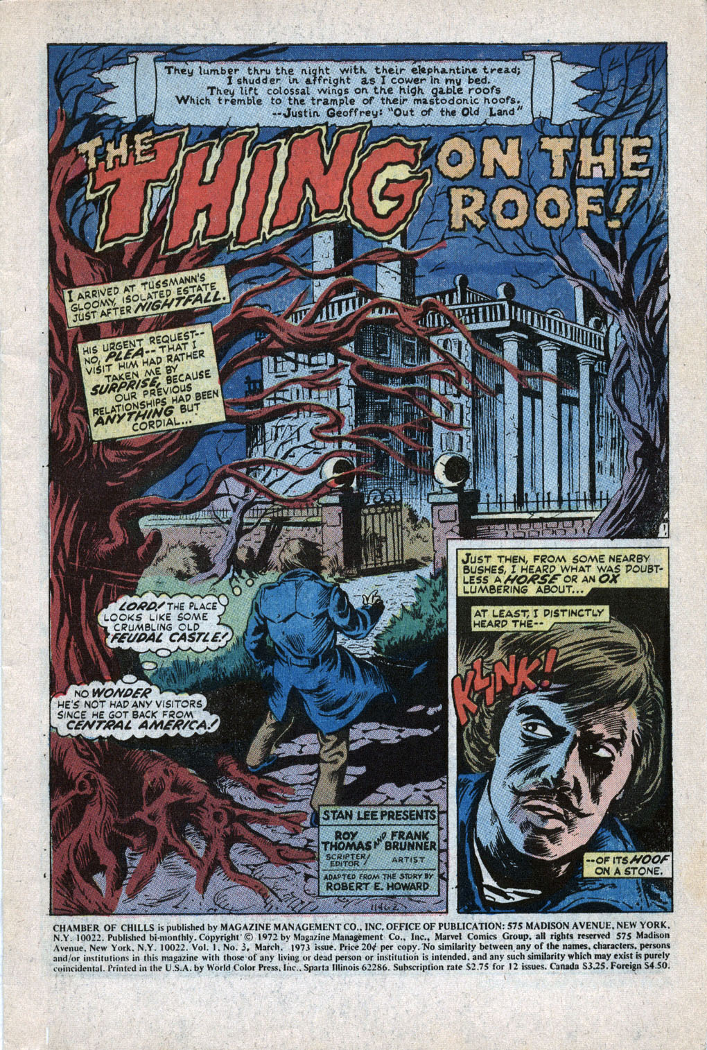 Chamber of Chills (1972) issue 3 - Page 3