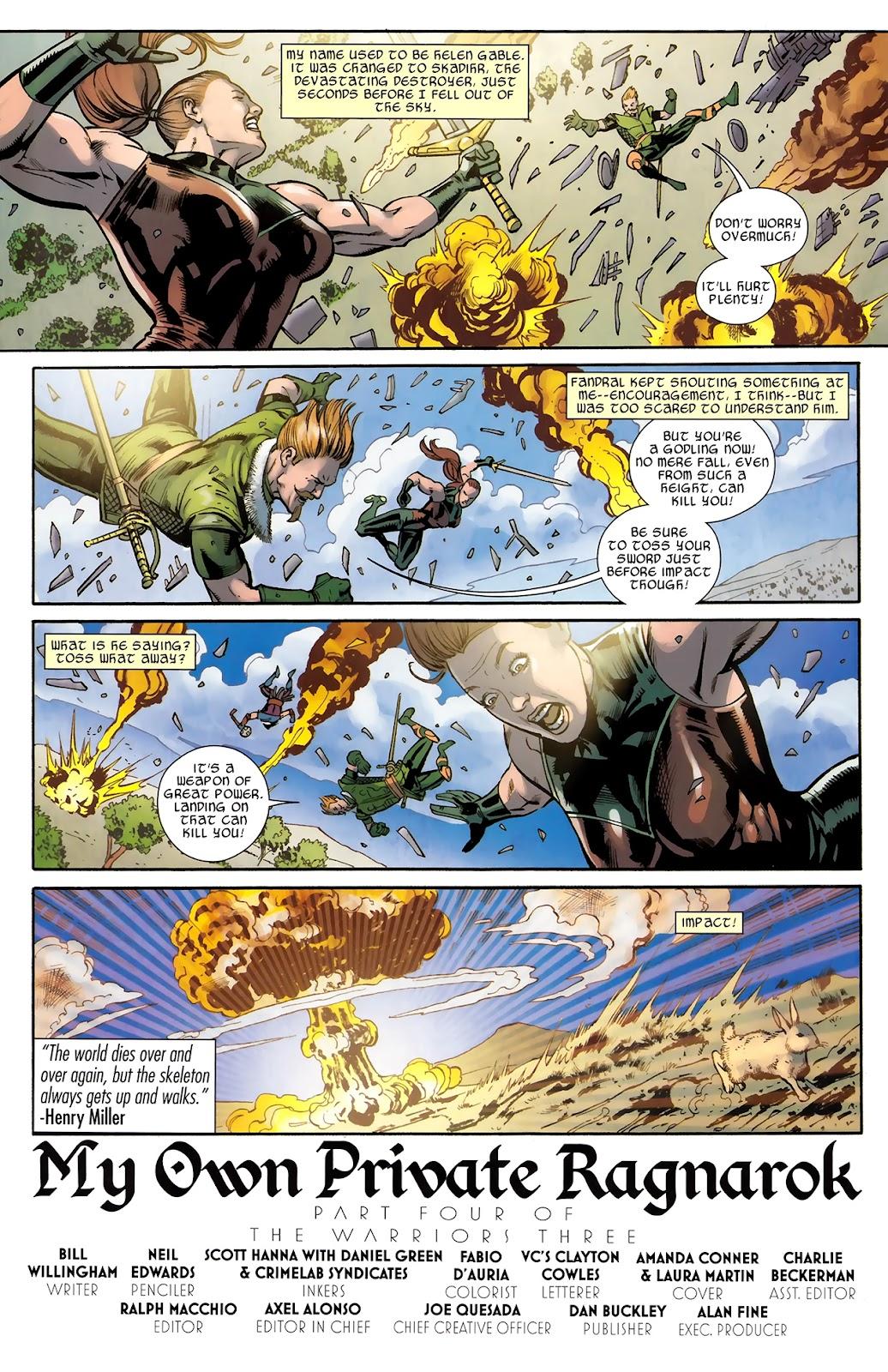 Warriors Three Issue #4 #4 - English 3