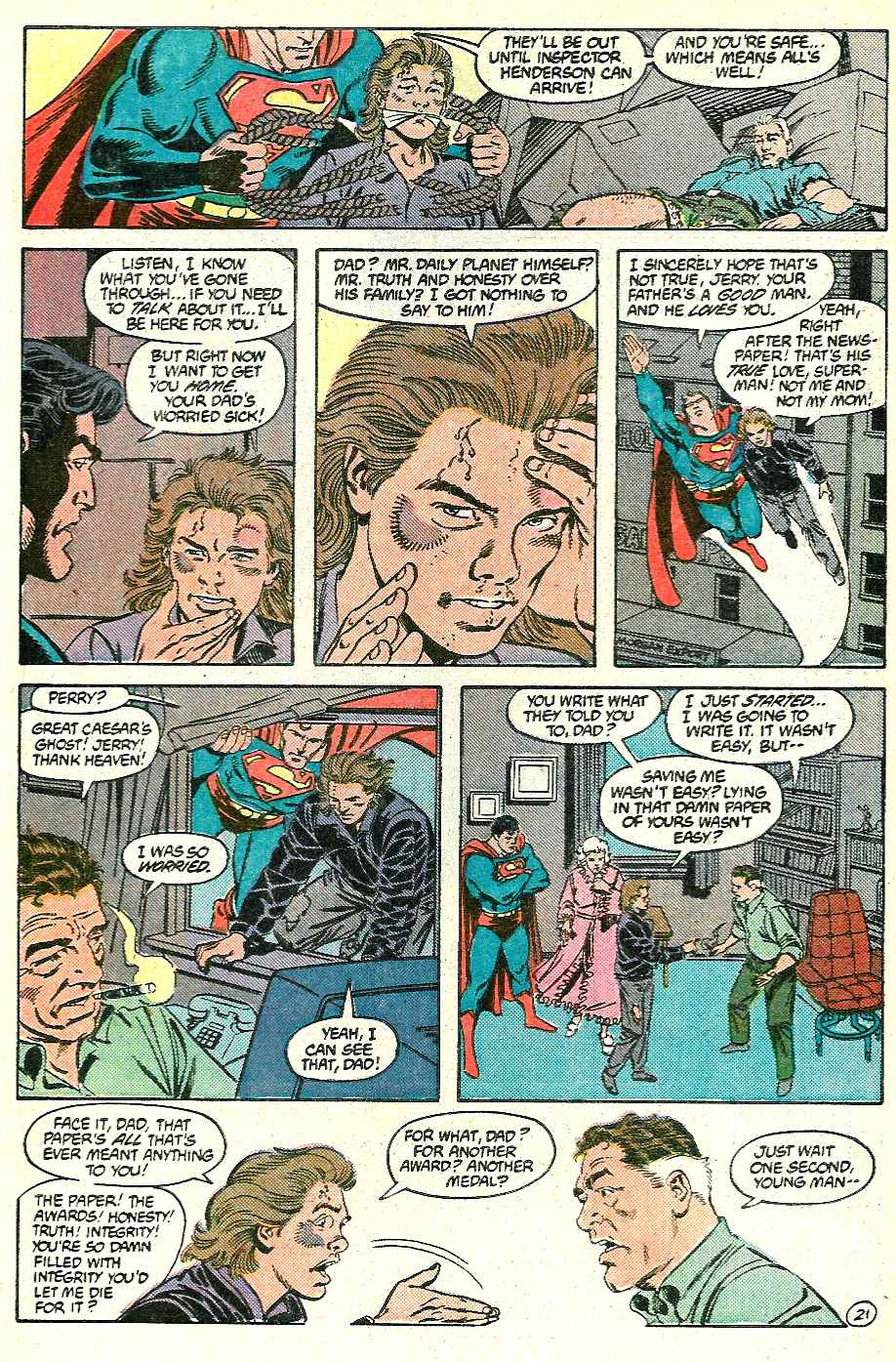 Read online Adventures of Superman (1987) comic -  Issue #428 - 21