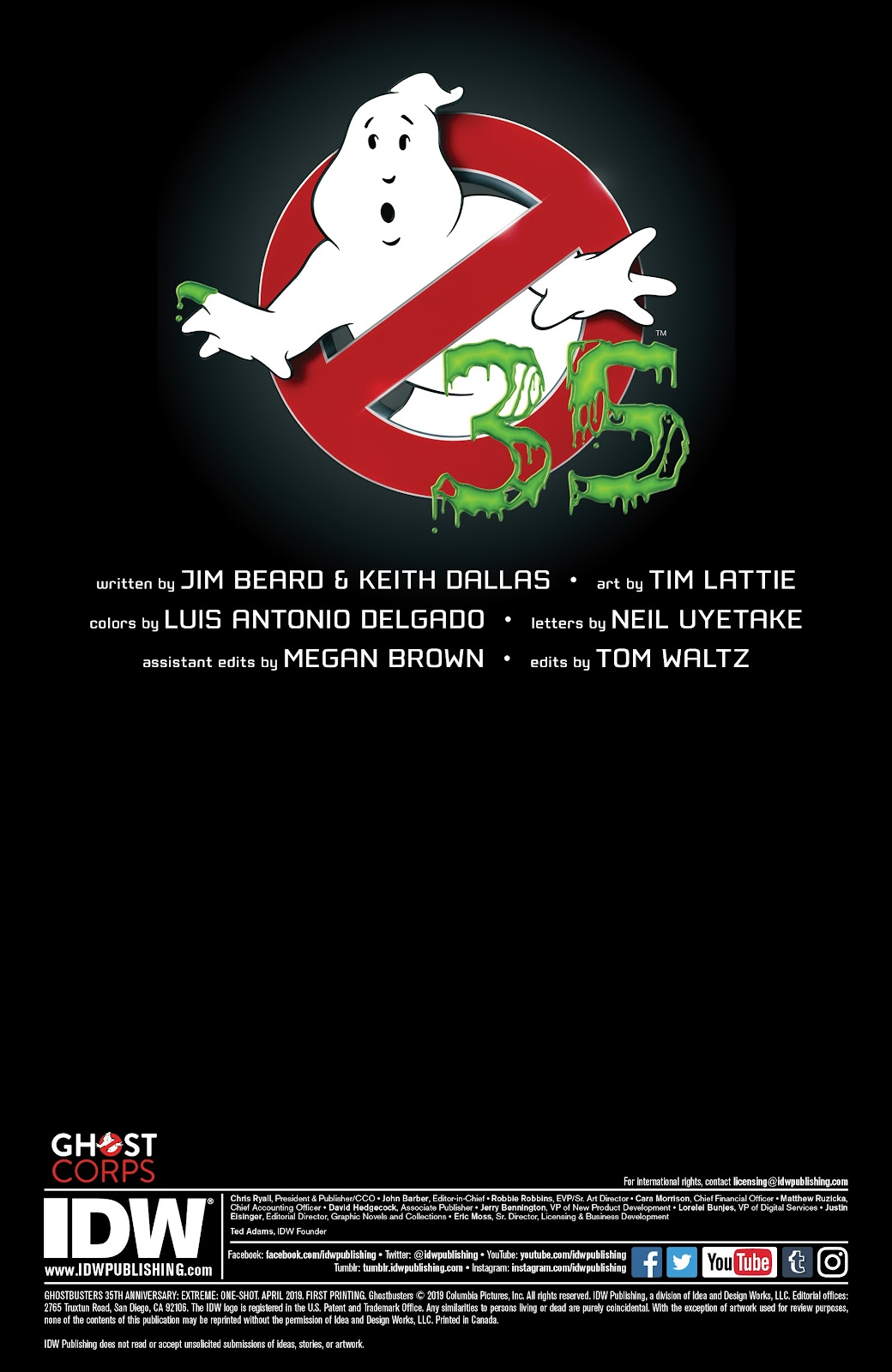 Read online Ghostbusters 35th Anniversary: Extreme comic -  Issue # Full - 2