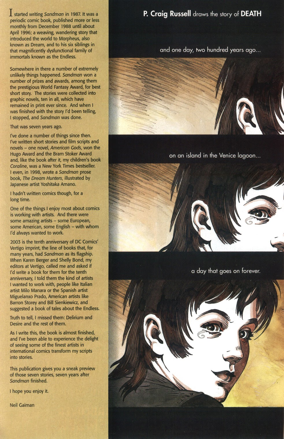 Read online The Sandman: Endless Nights comic -  Issue # _Preview - 2