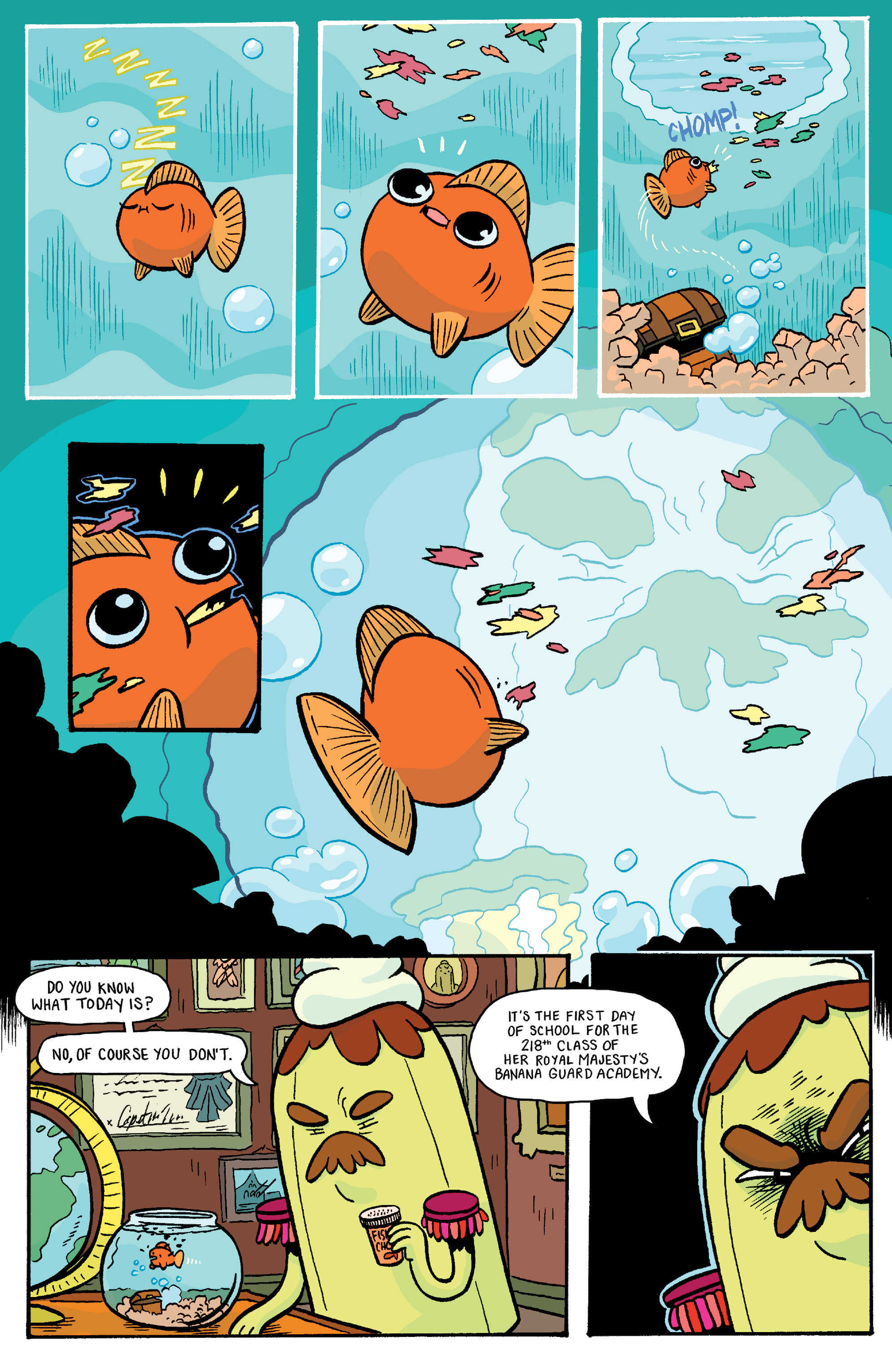 Read online Adventure Time: Banana Guard Academ comic -  Issue #2 - 3