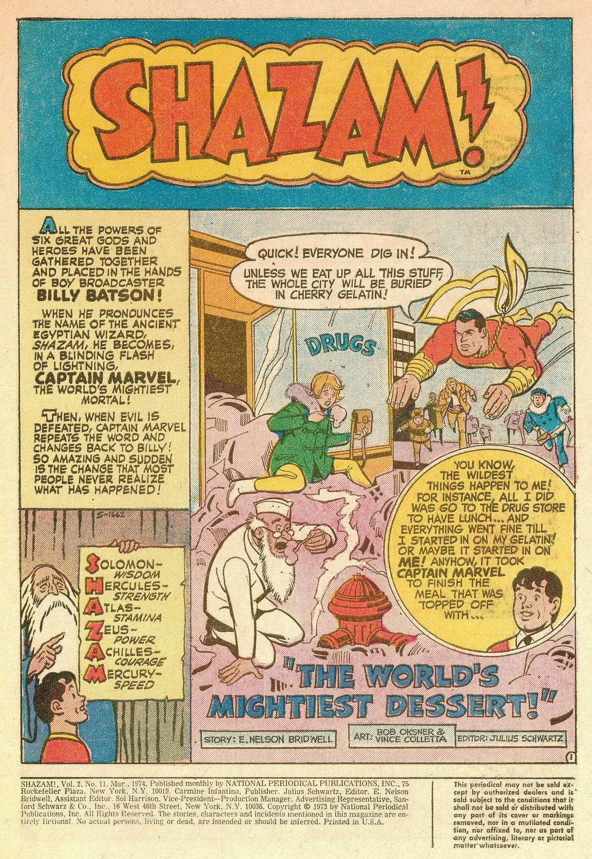 Read online Shazam! (1973) comic -  Issue #11 - 2