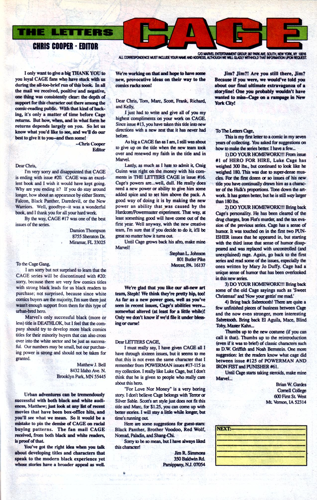 Cage (1992) issue 20 - Page 23