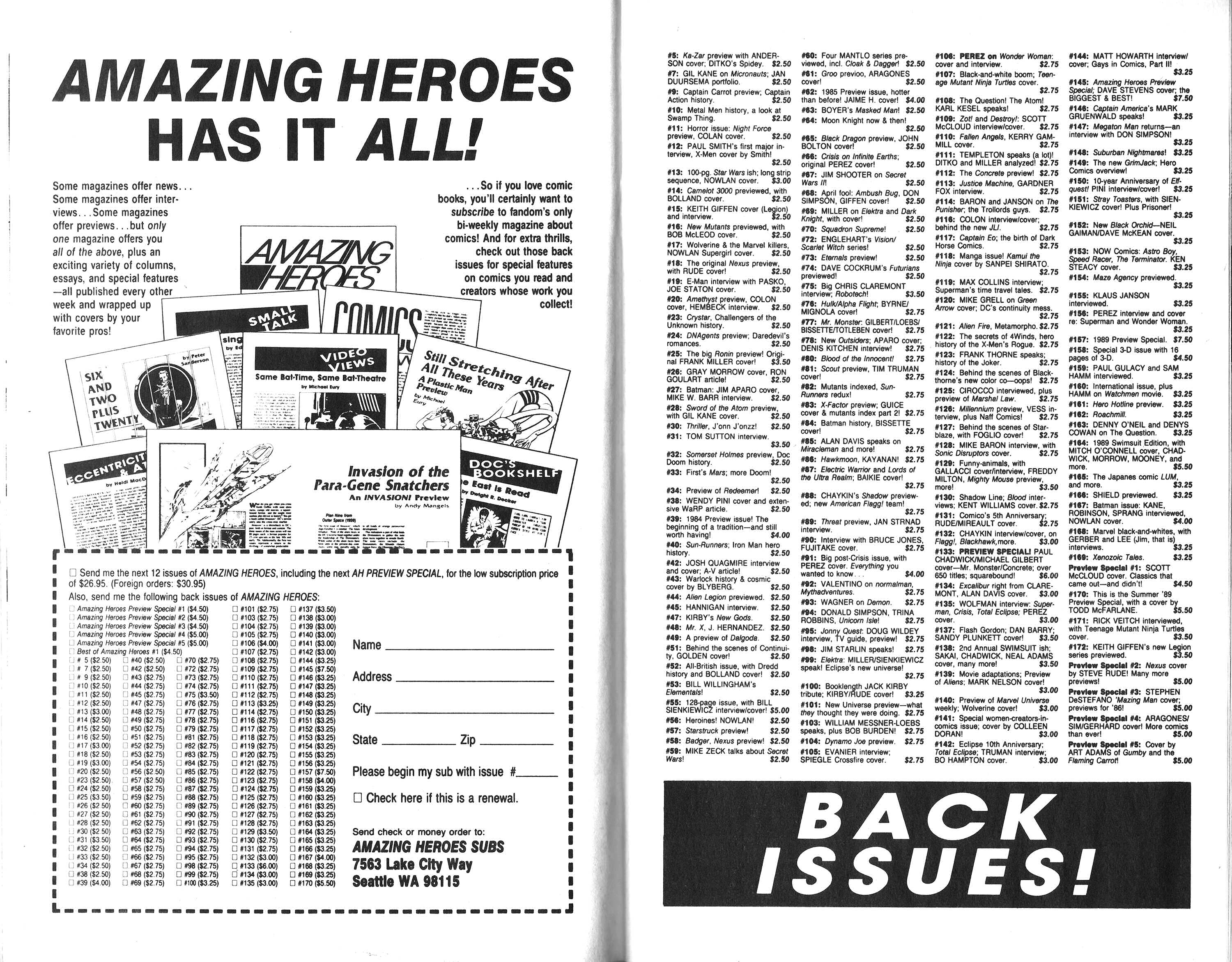 Read online Amazing Heroes comic -  Issue #175 - 23