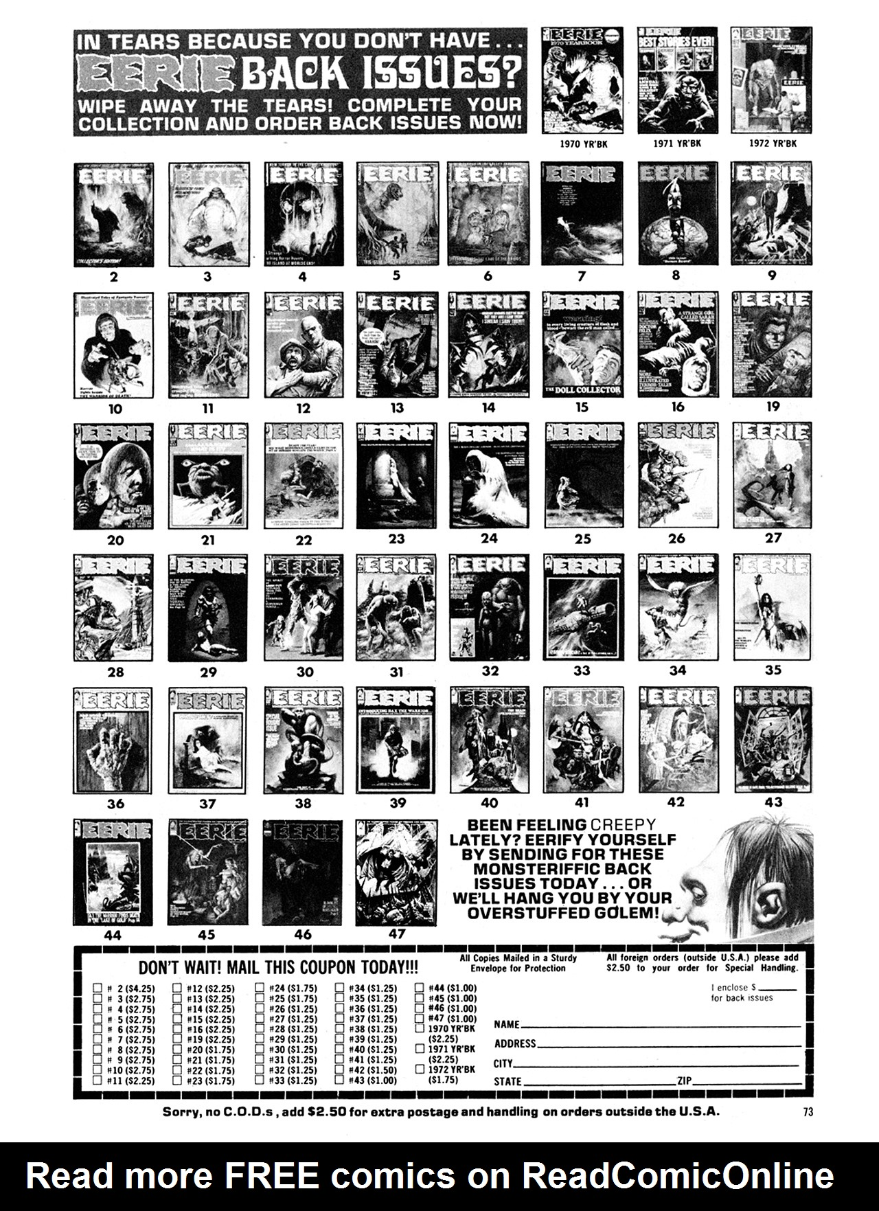 Read online Eerie Archives comic -  Issue # TPB 10 - 74