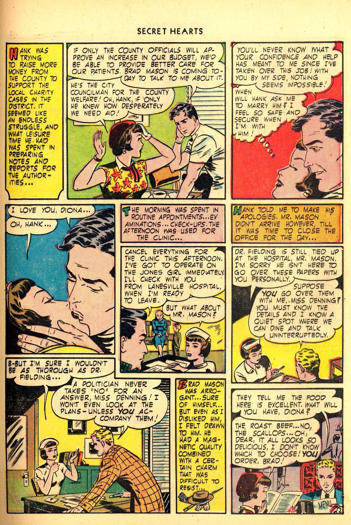 Read online Secret Hearts comic -  Issue #6 - 31