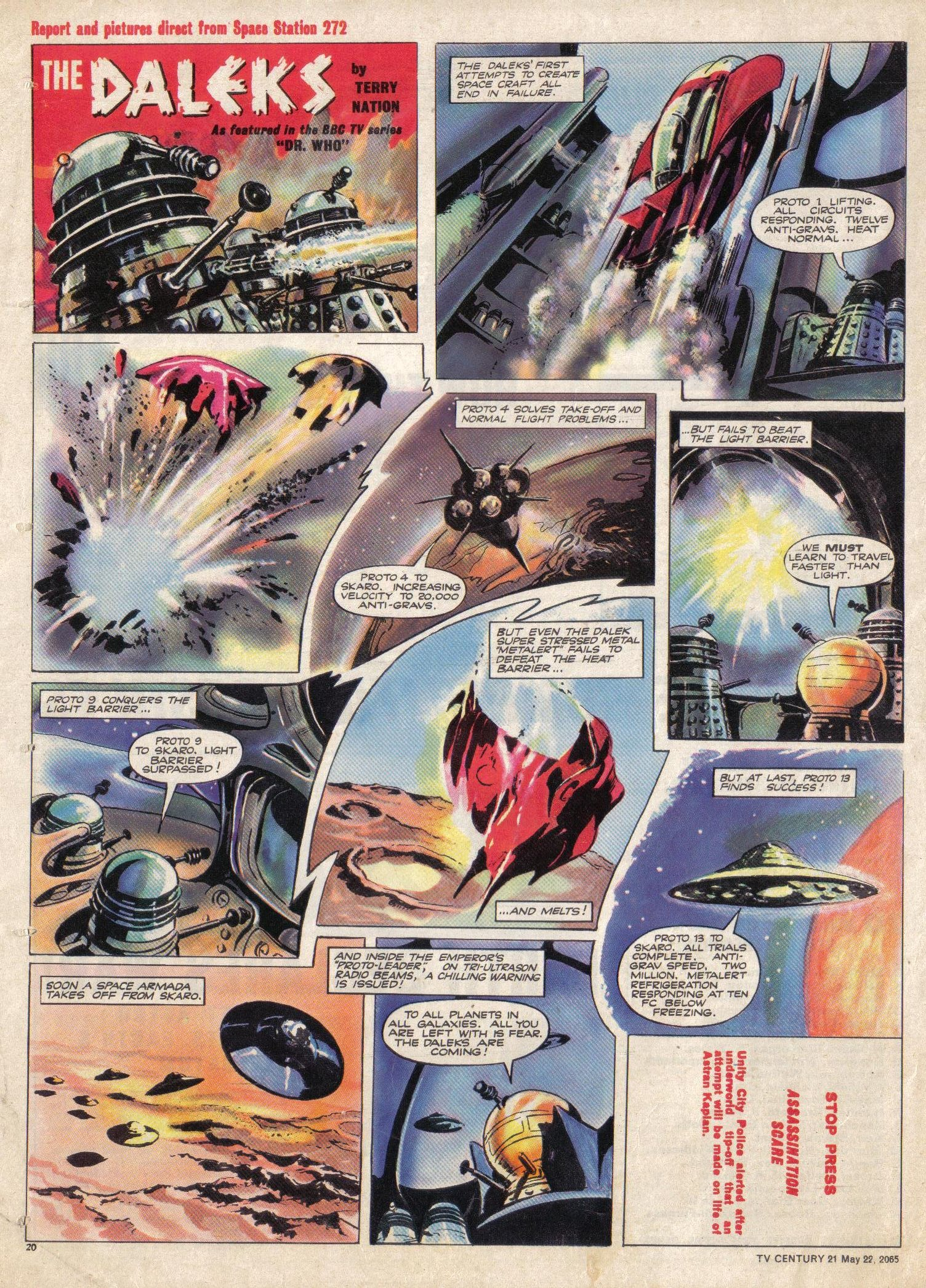 Read online TV Century 21 (TV 21) comic -  Issue #18 - 20