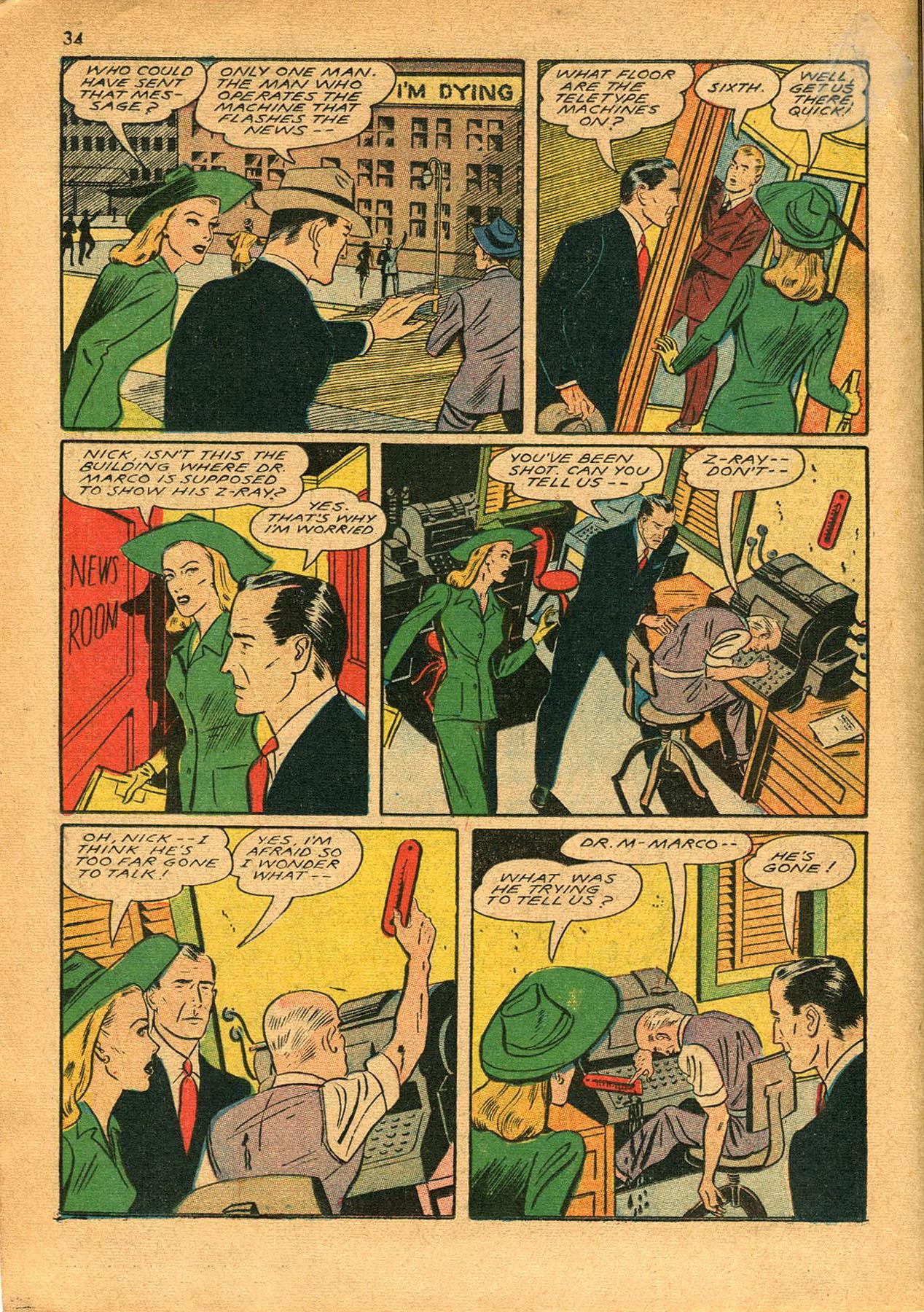 Read online Shadow Comics comic -  Issue #23 - 34