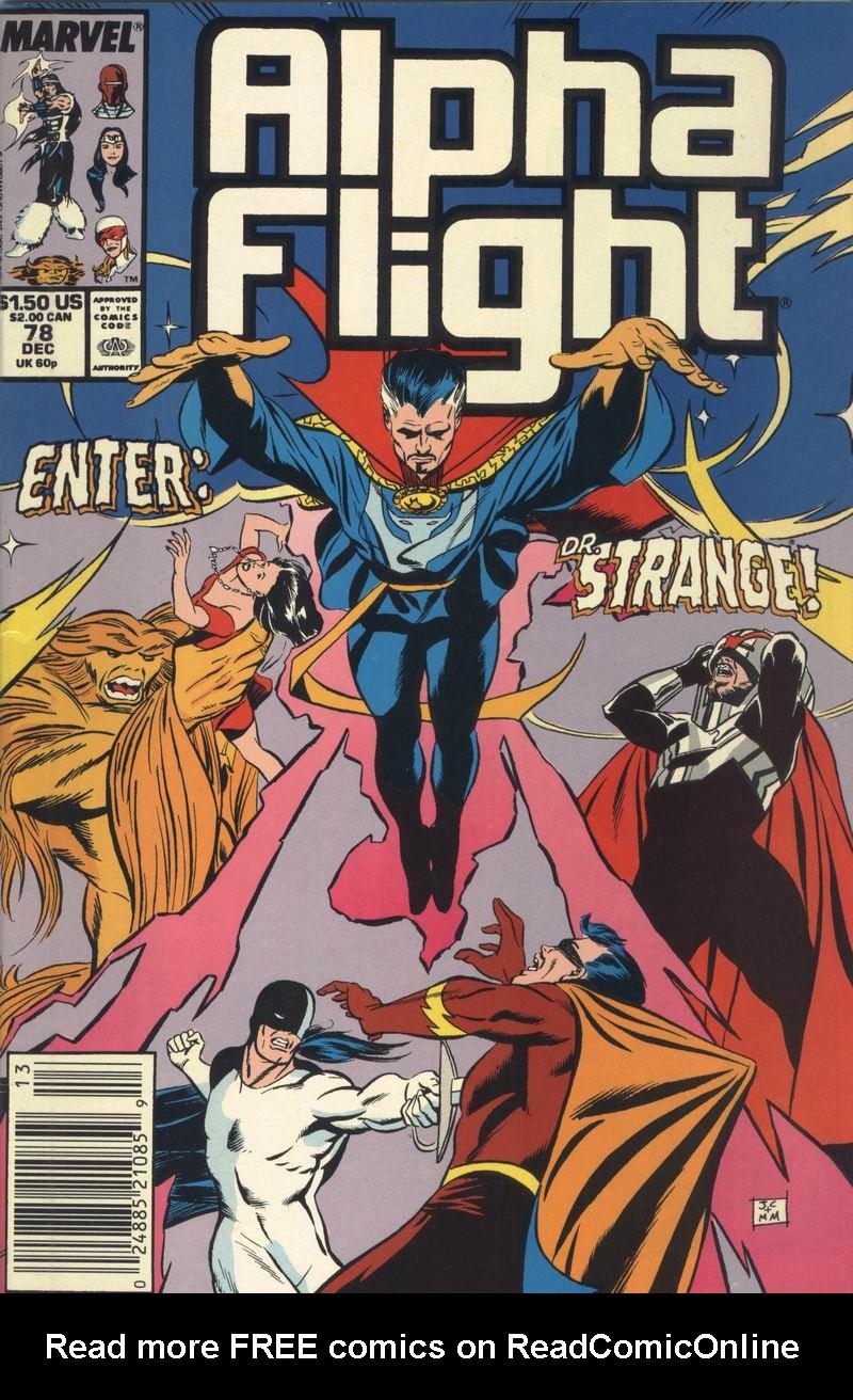 Read online Alpha Flight (1983) comic -  Issue #78 - 1