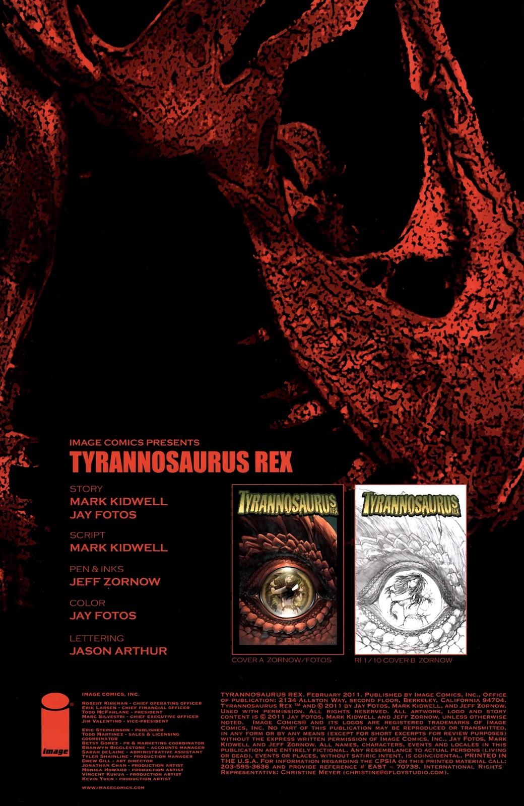 Read online Tyrannosaurus Rex comic -  Issue # Full - 2