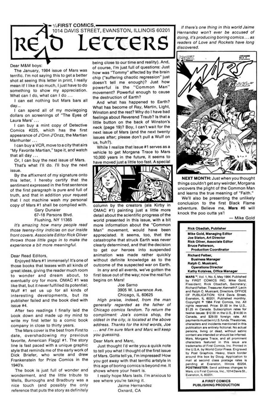 Read online Mars comic -  Issue #5 - 2