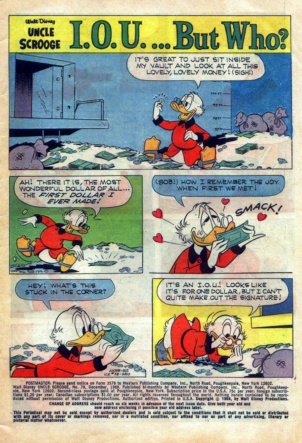 Read online Uncle Scrooge (1953) comic -  Issue #78 - 3