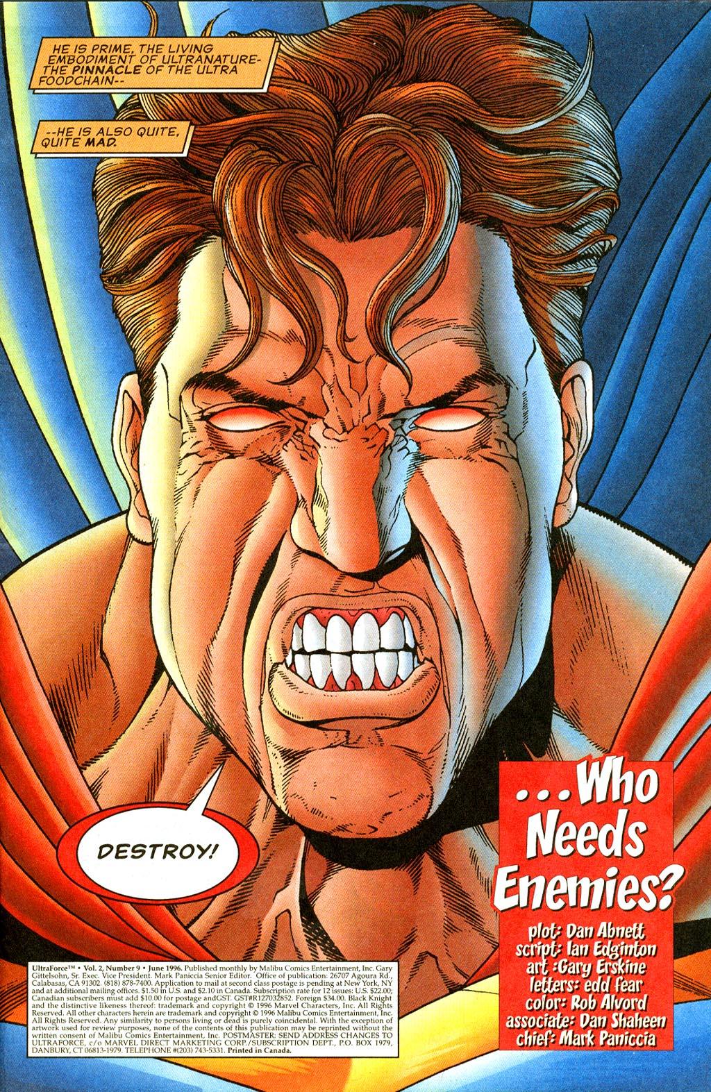 Read online UltraForce (1995) comic -  Issue #9 - 2
