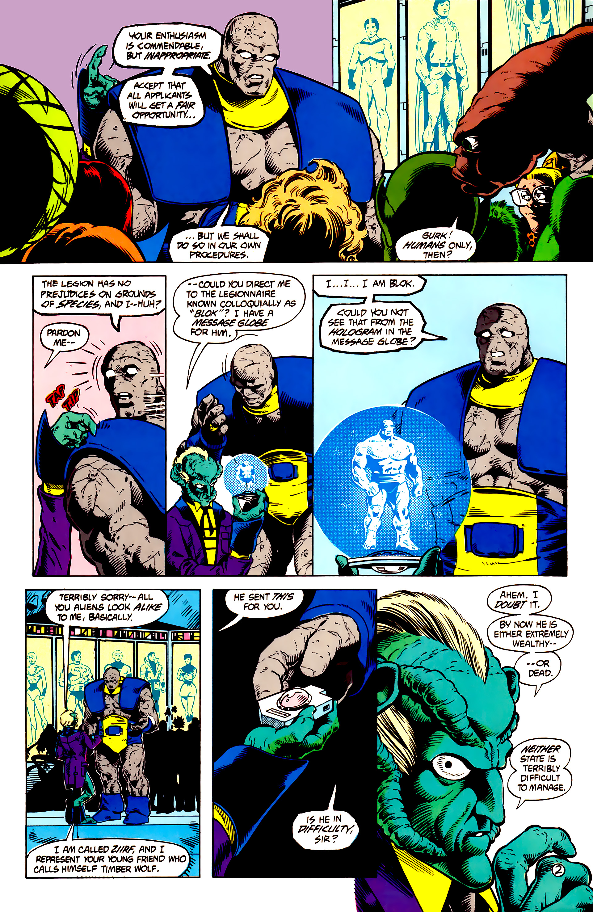 Legion of Super-Heroes (1984) 13 Page 3