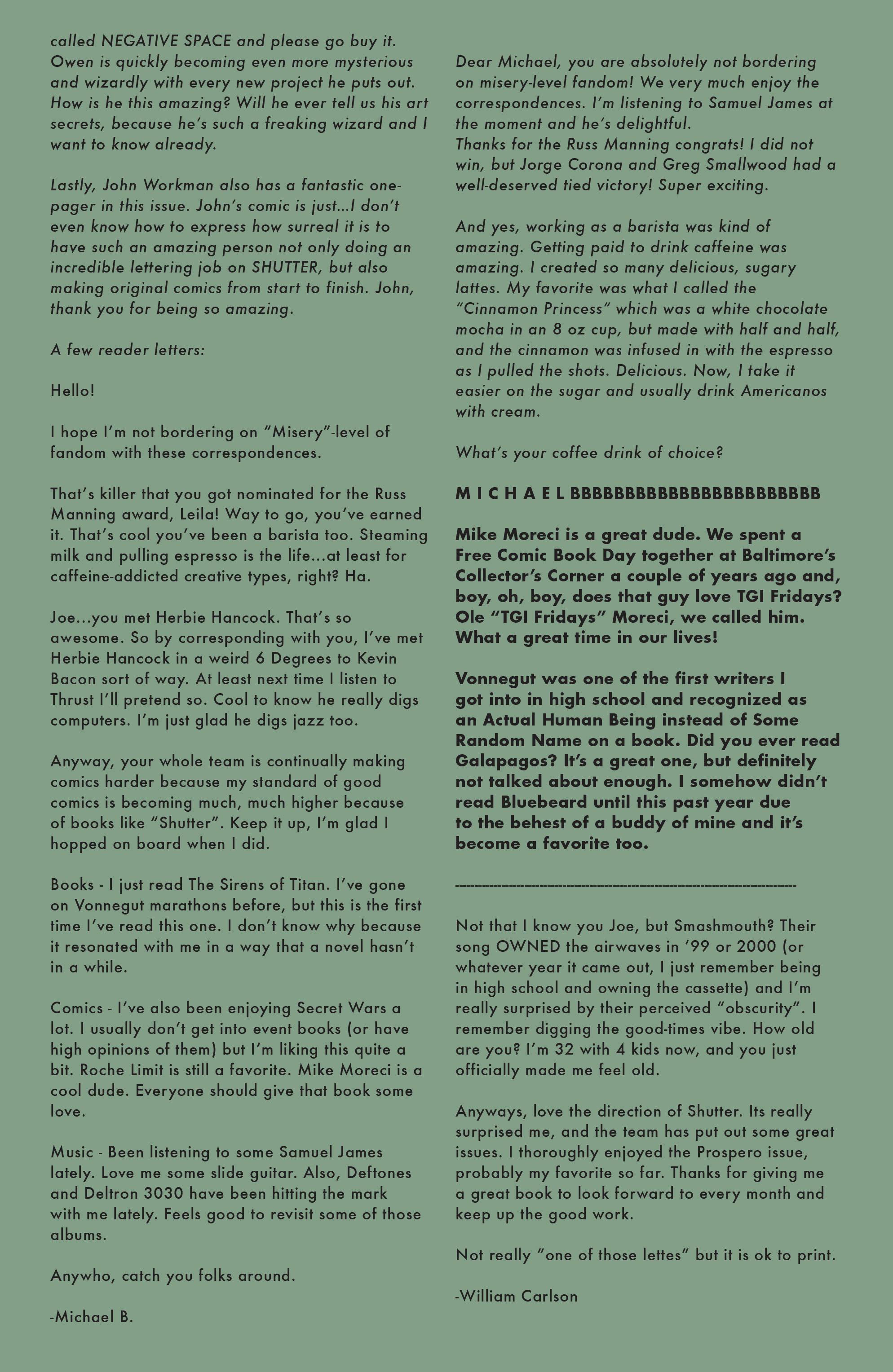 Read online Shutter comic -  Issue #14 - 22