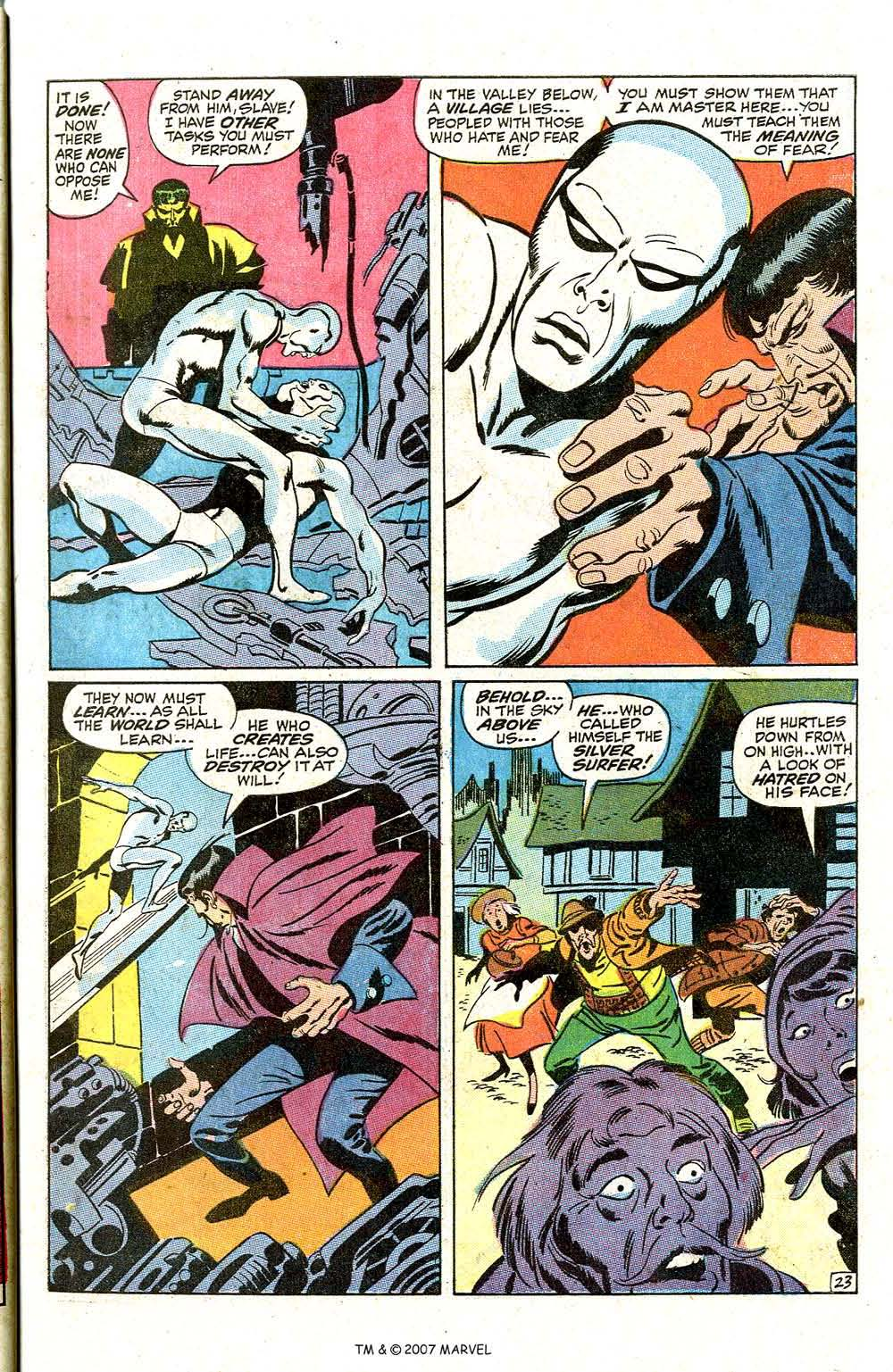 Read online Silver Surfer (1968) comic -  Issue #7 - 29