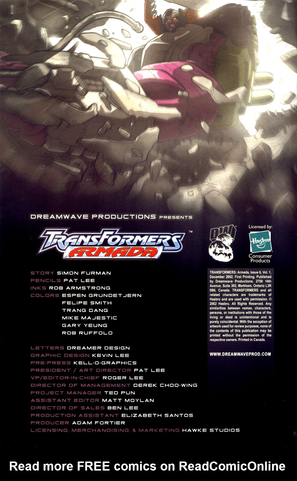 Read online Transformers Armada comic -  Issue #6 - 3