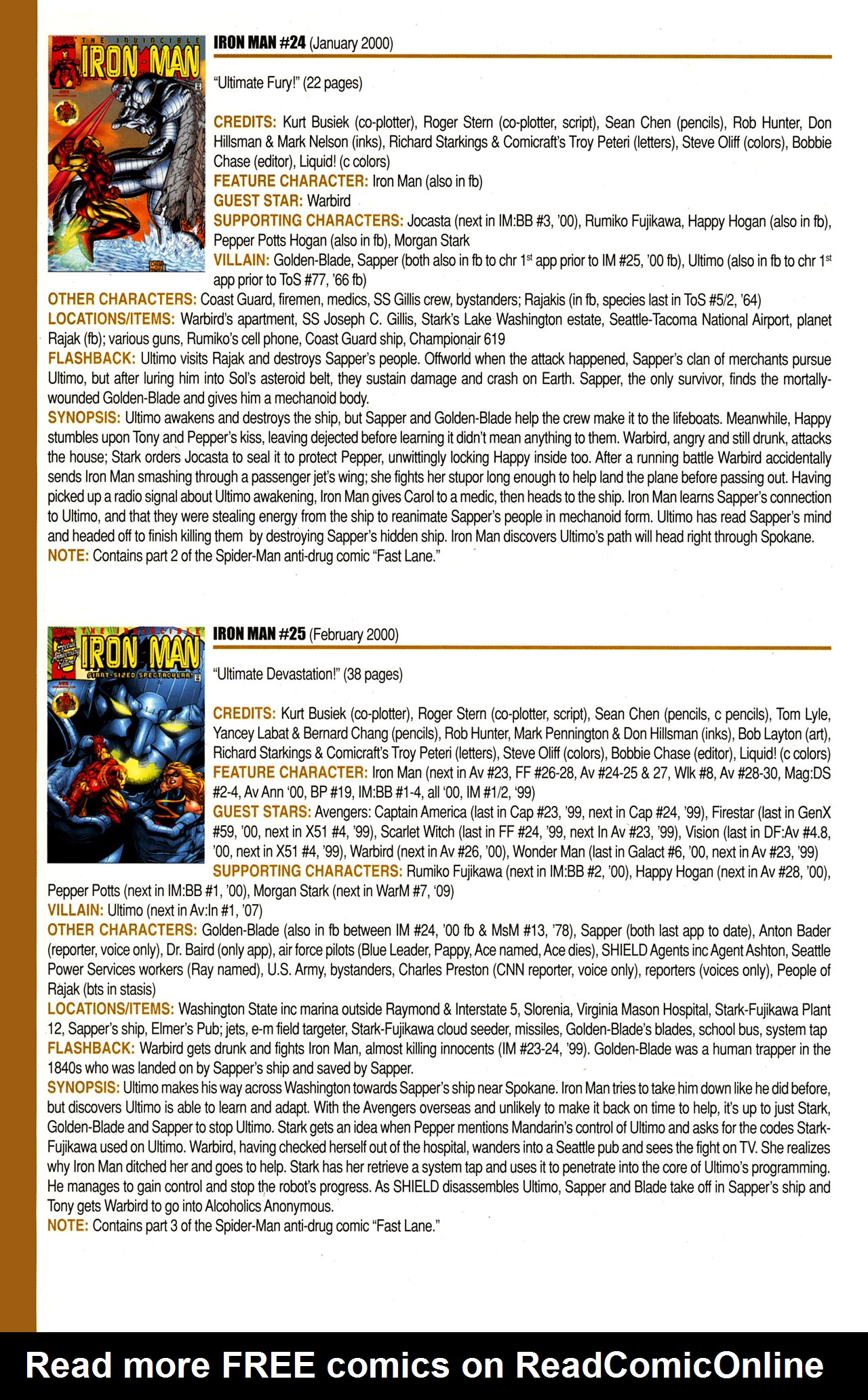 Read online Official Index to the Marvel Universe comic -  Issue #10 - 40