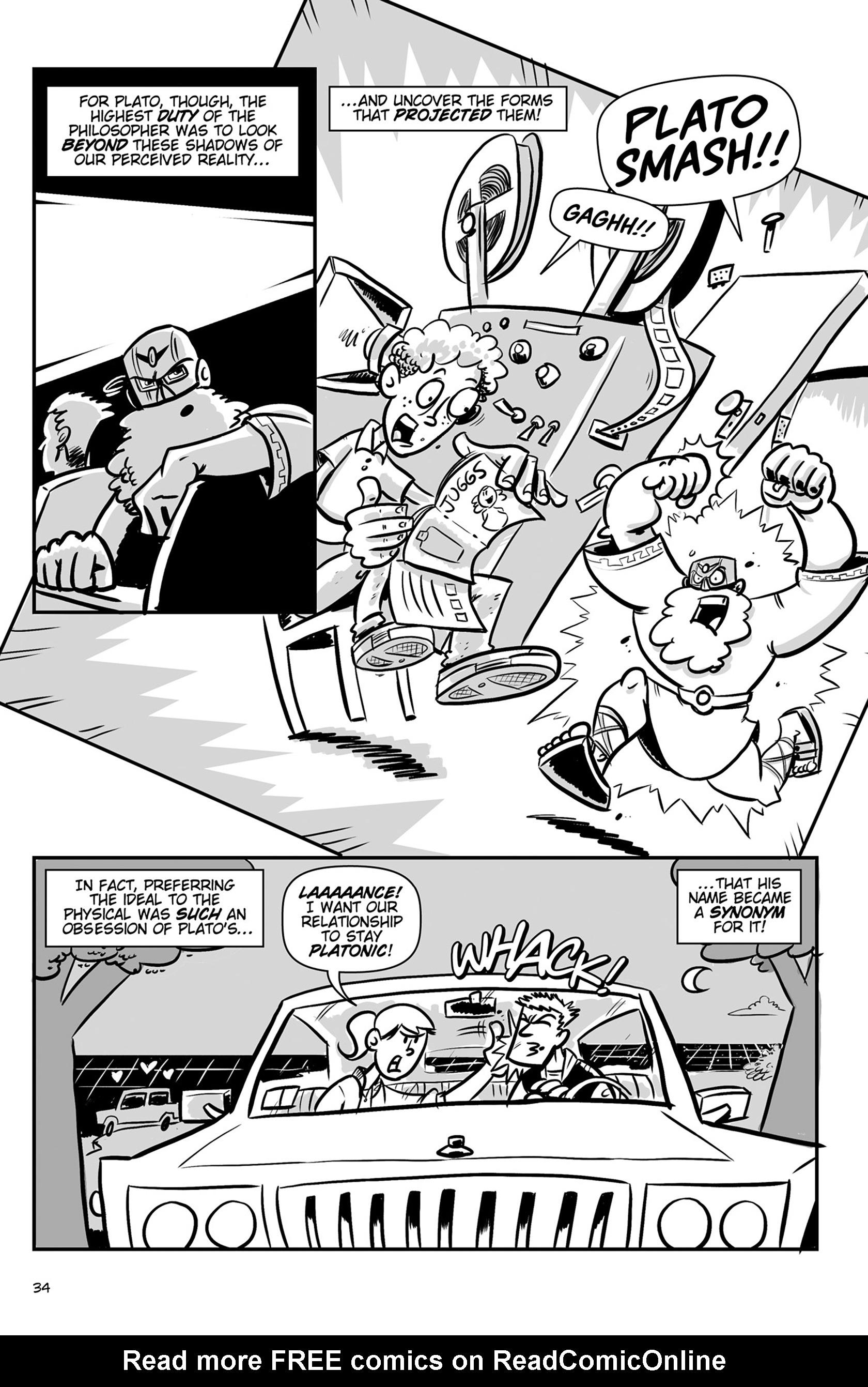 Read online Action Philosophers! comic -  Issue #Action Philosophers! TPB (Part 1) - 34