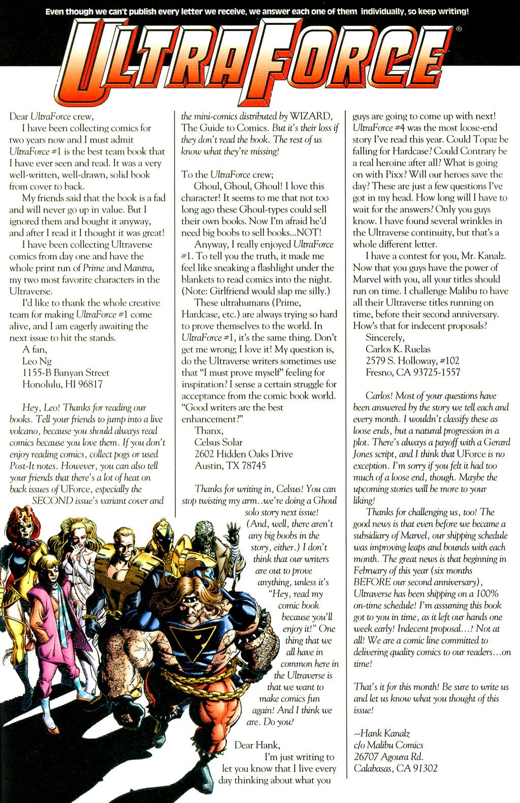 Read online UltraForce (1994) comic -  Issue #6 - 25