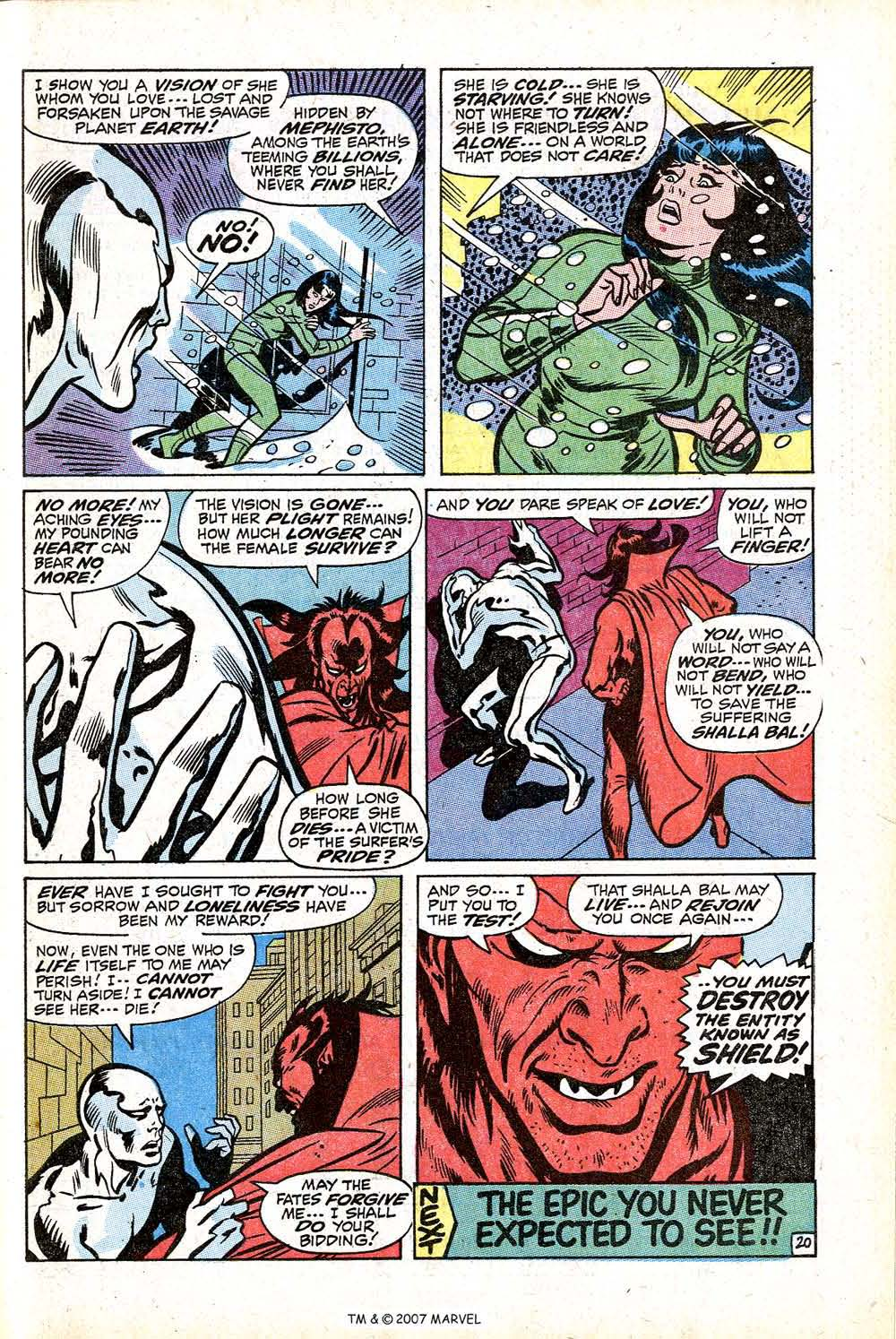 Read online Silver Surfer (1968) comic -  Issue #16 - 29