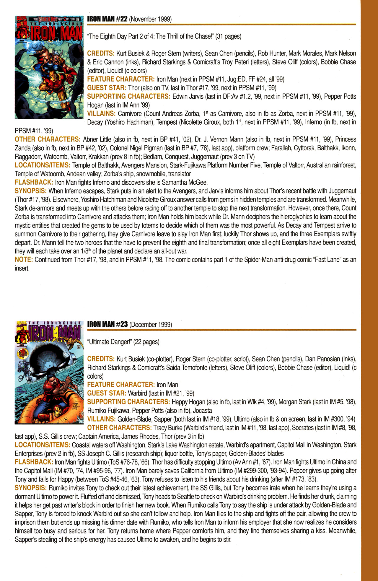 Read online Official Index to the Marvel Universe comic -  Issue #10 - 39