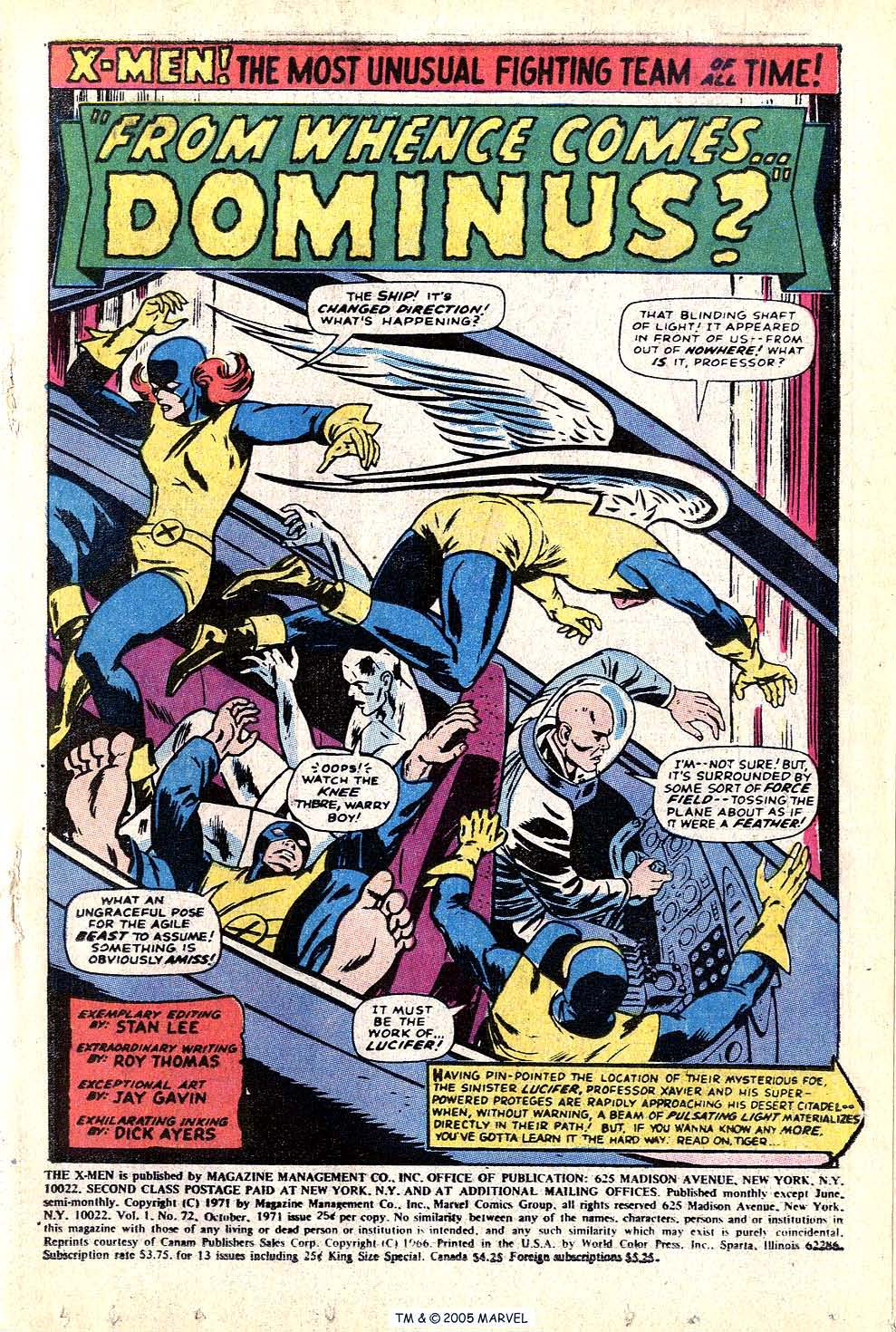 Read online Uncanny X-Men (1963) comic -  Issue #72 - 3