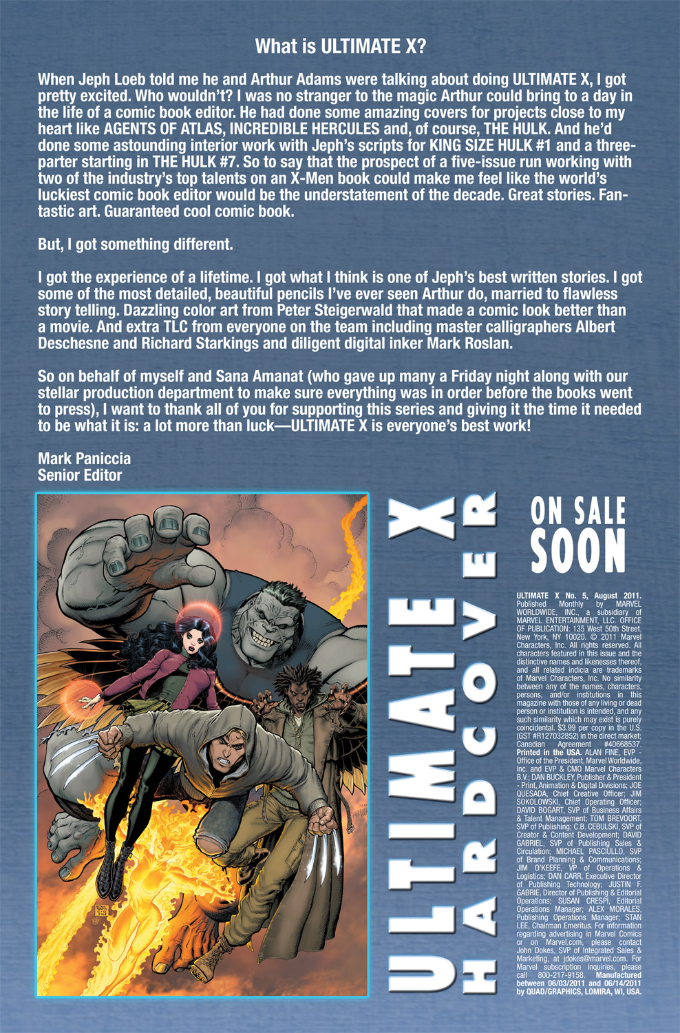 Read online Ultimate X comic -  Issue #5 - 23