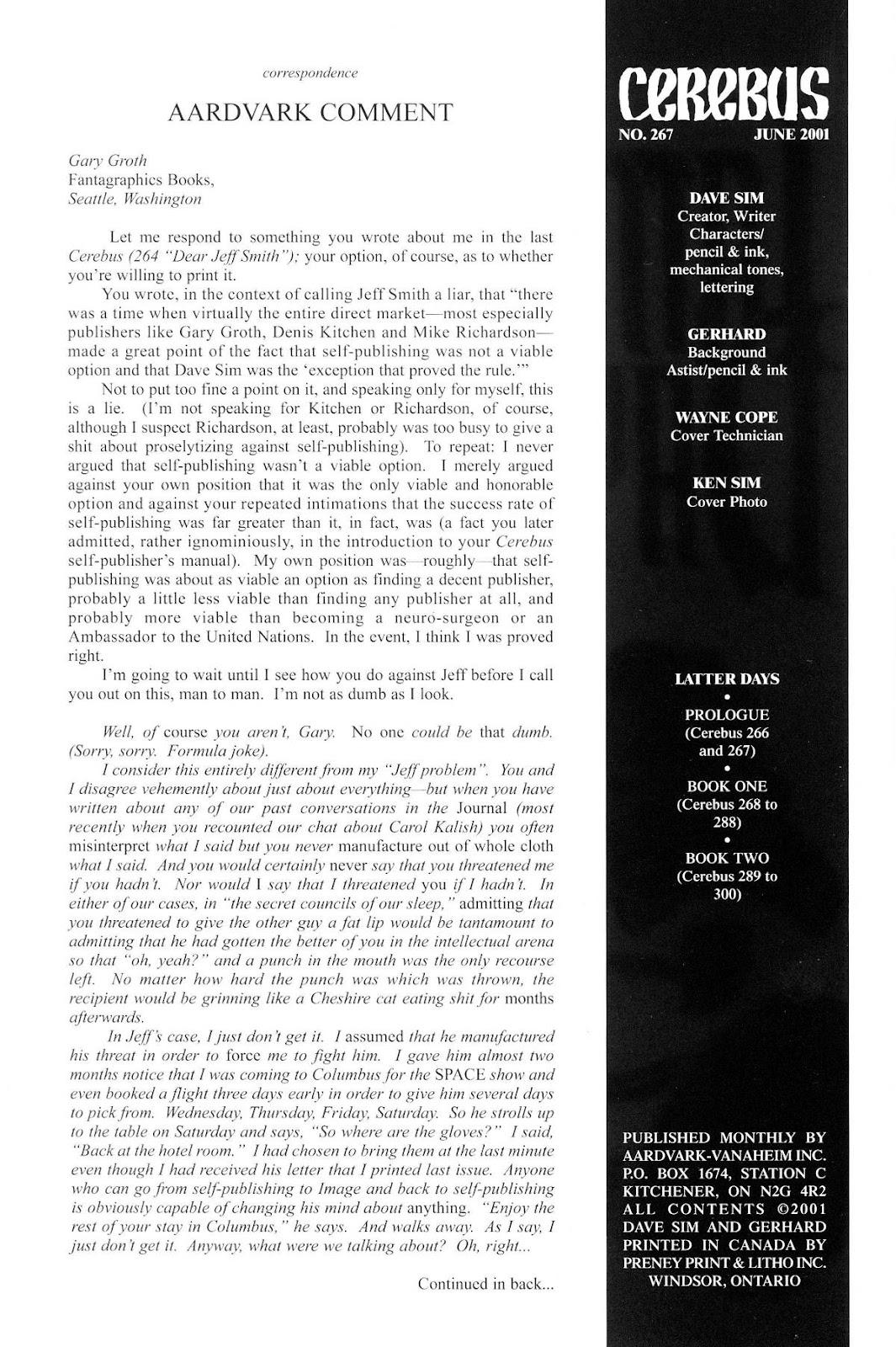 Cerebus Issue #267 #266 - English 2