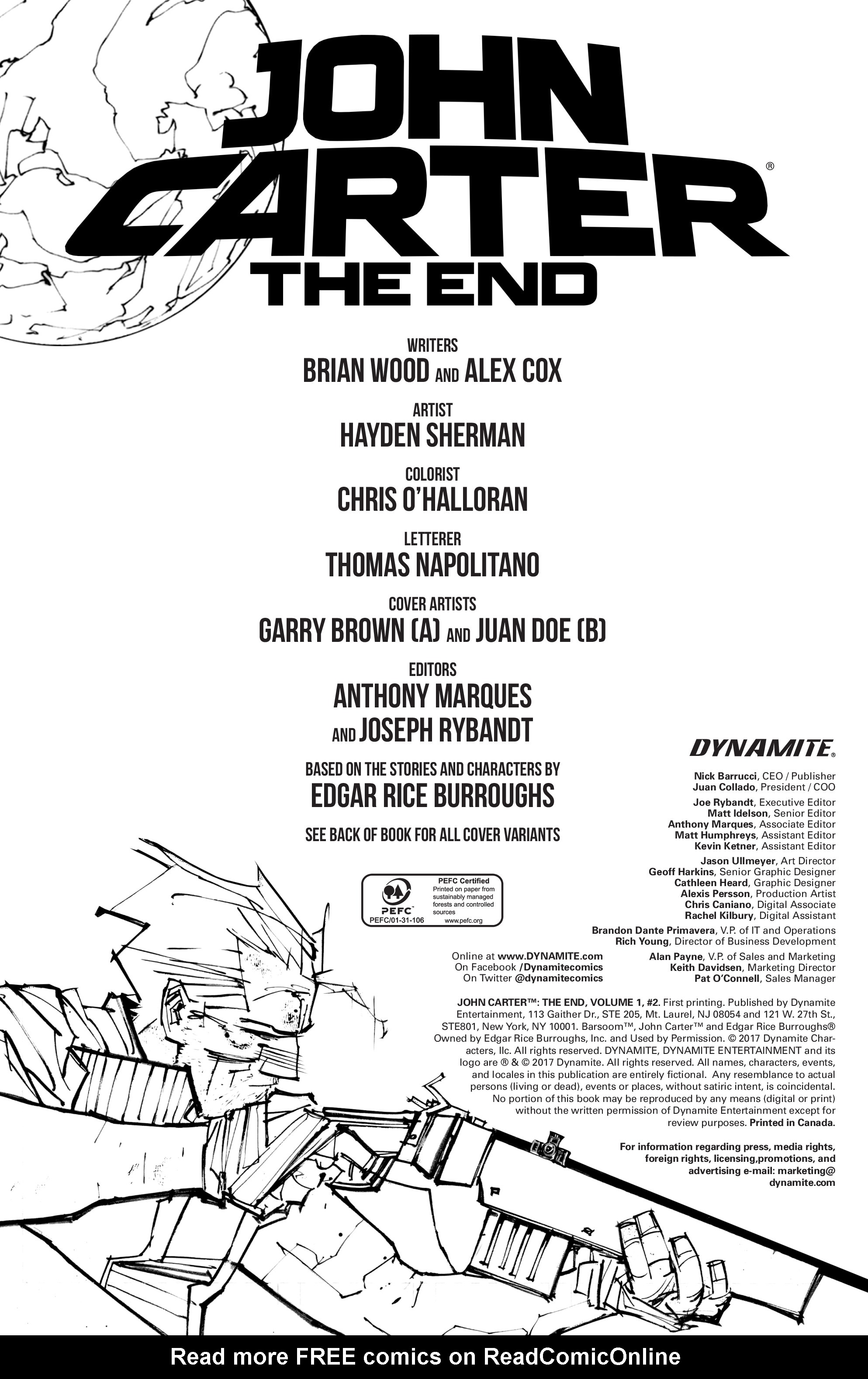 Read online John Carter: The End comic -  Issue #2 - 3