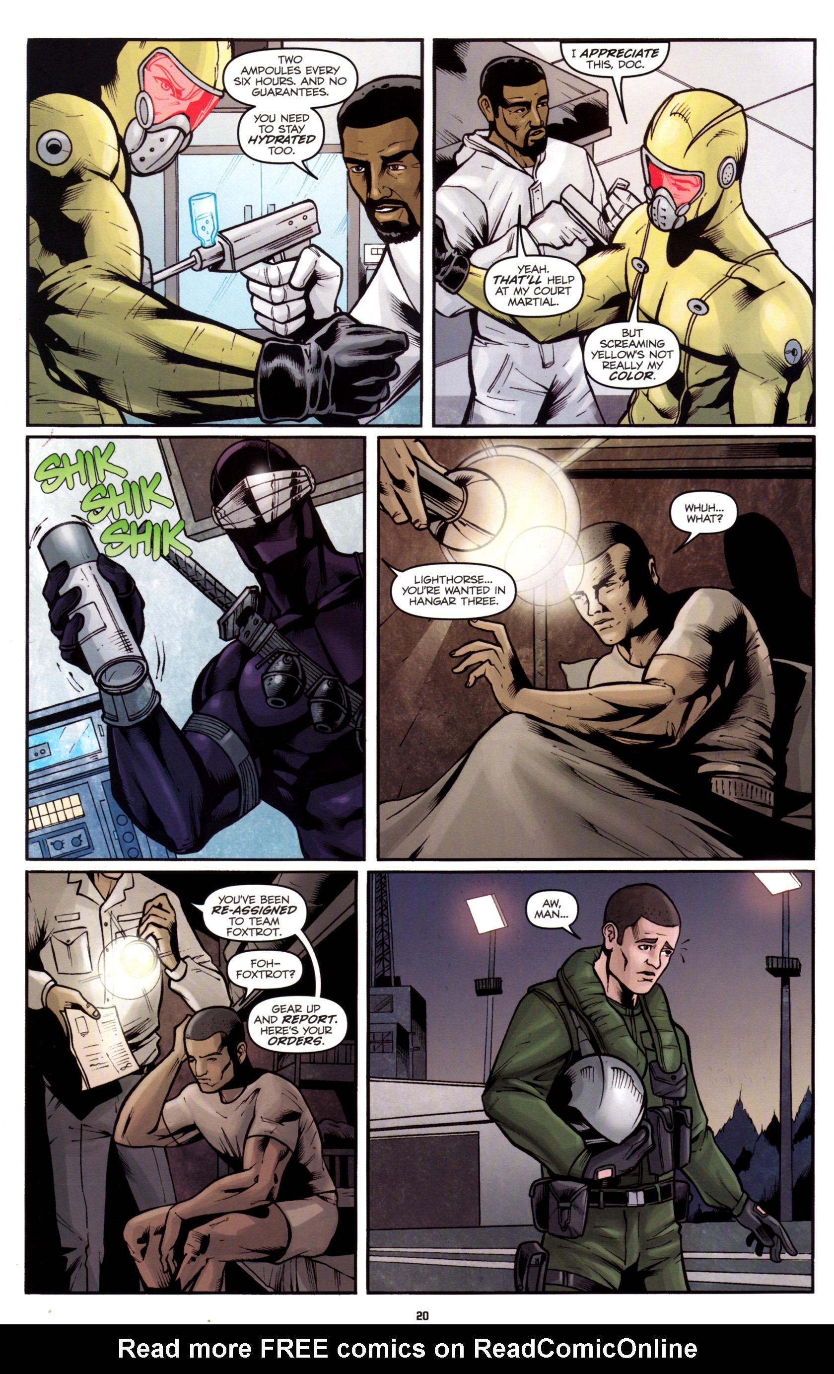 Read online G.I. Joe: Snake Eyes comic -  Issue #5 - 23
