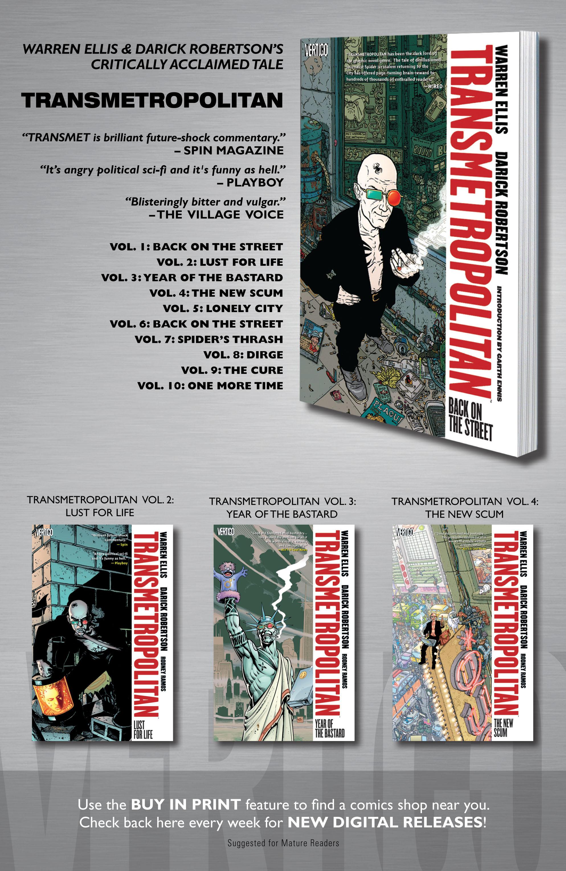 Read online Transmetropolitan comic -  Issue #22 - 24
