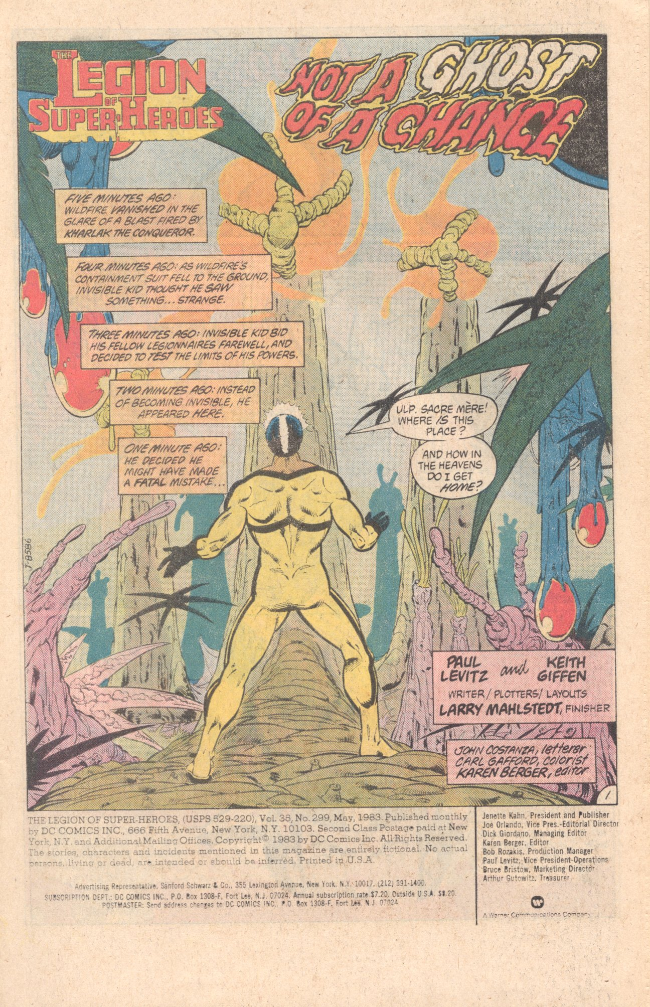 Legion of Super-Heroes (1980) 299 Page 1