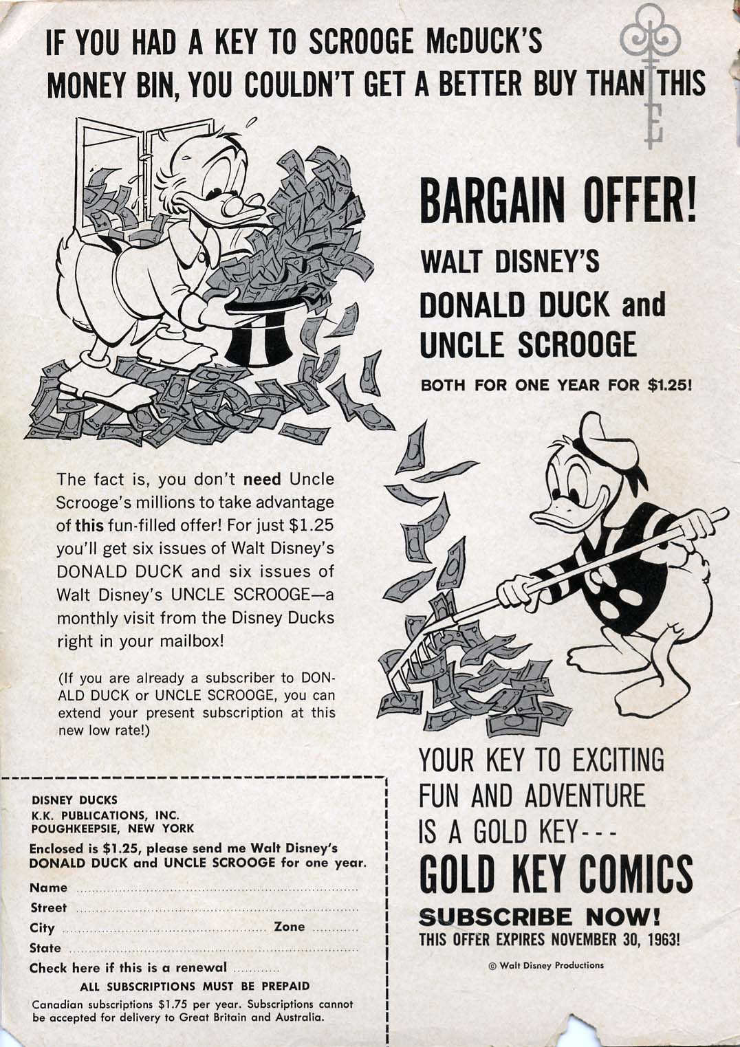 Read online Uncle Scrooge (1953) comic -  Issue #45 - 2