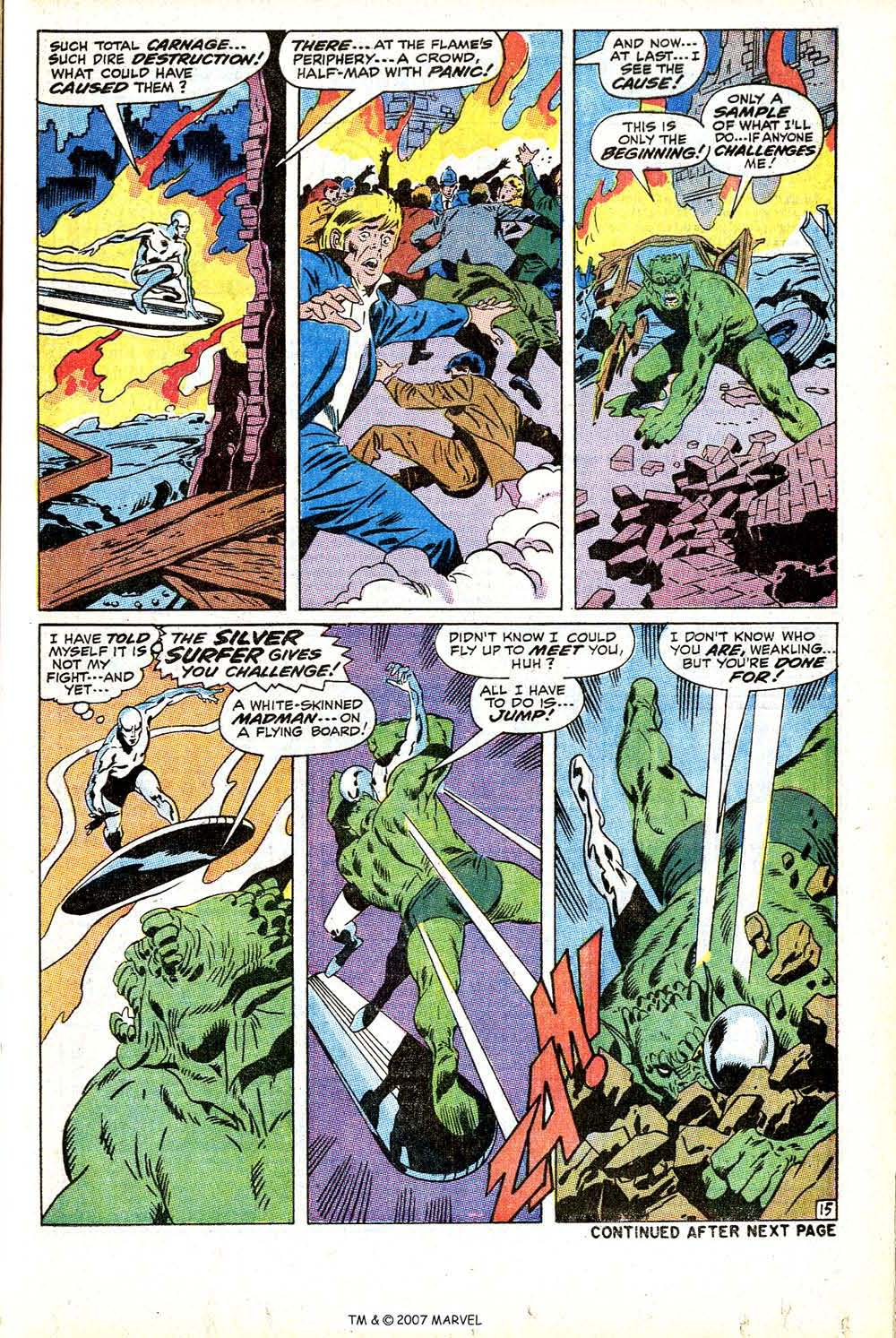 Read online Silver Surfer (1968) comic -  Issue #12 - 21