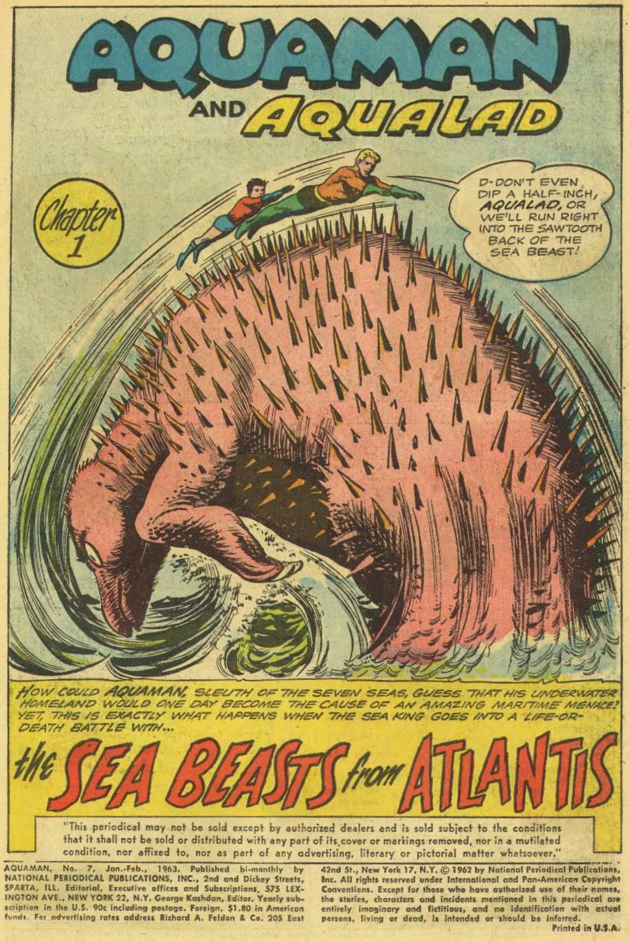 Read online Aquaman (1962) comic -  Issue #7 - 3