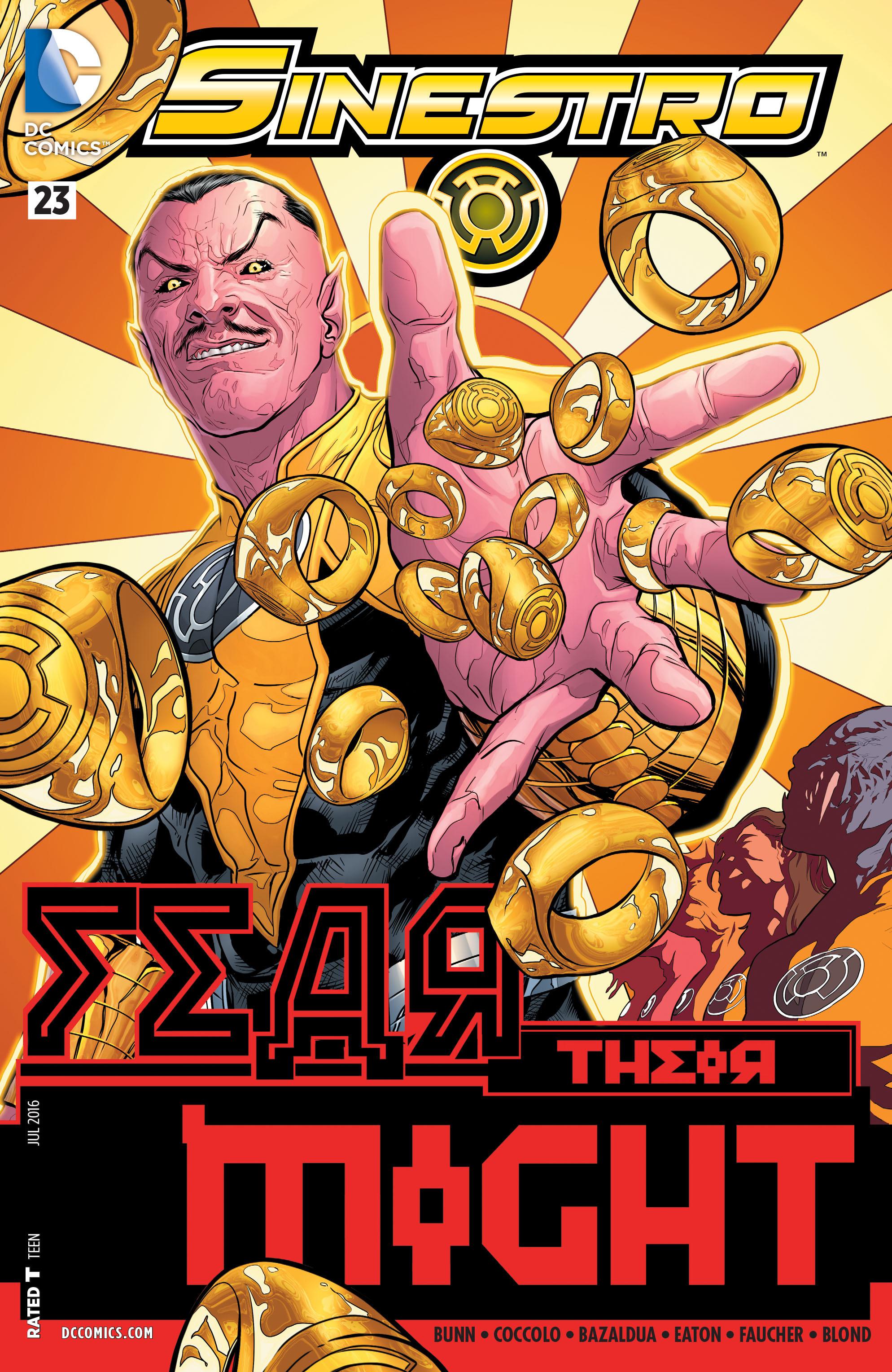 Read online Sinestro comic -  Issue #23 - 1
