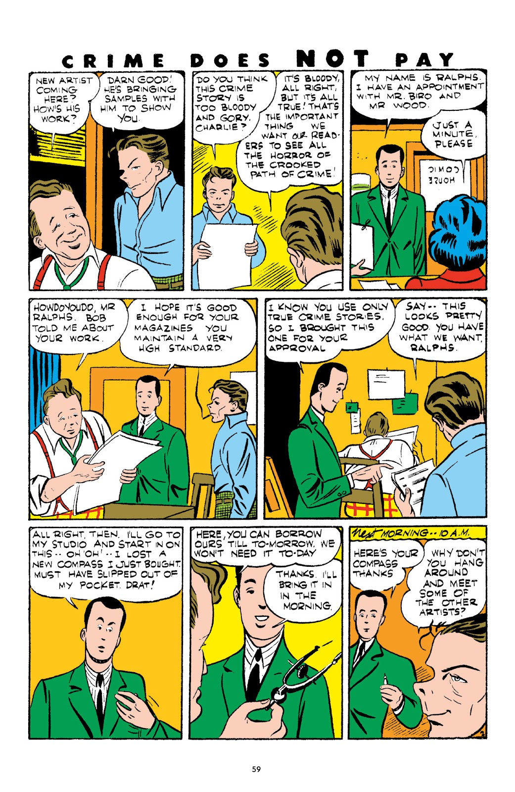 Read online Crime Does Not Pay Archives comic -  Issue # TPB 3 (Part 1) - 59