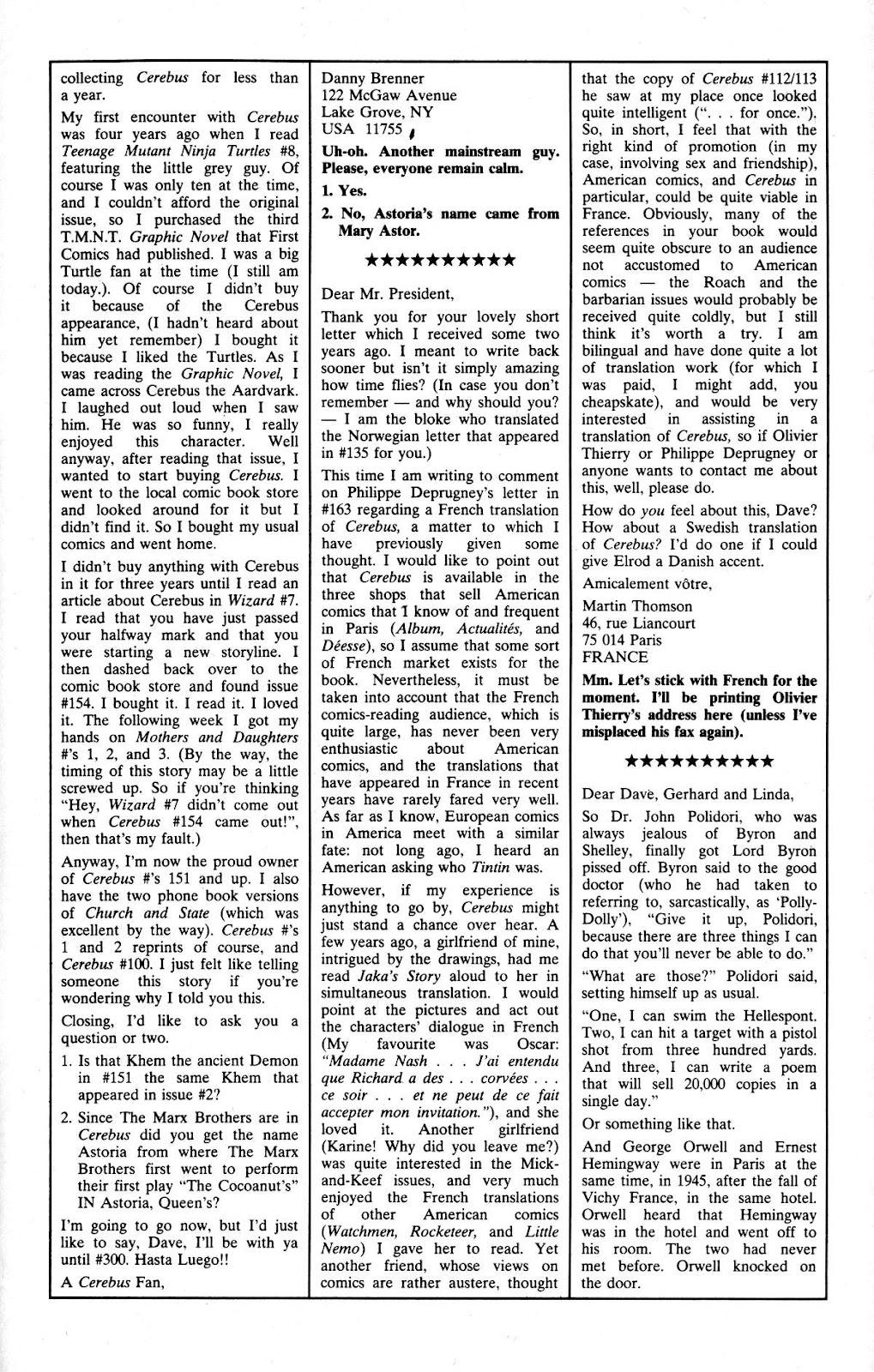 Cerebus Issue #165 #164 - English 28