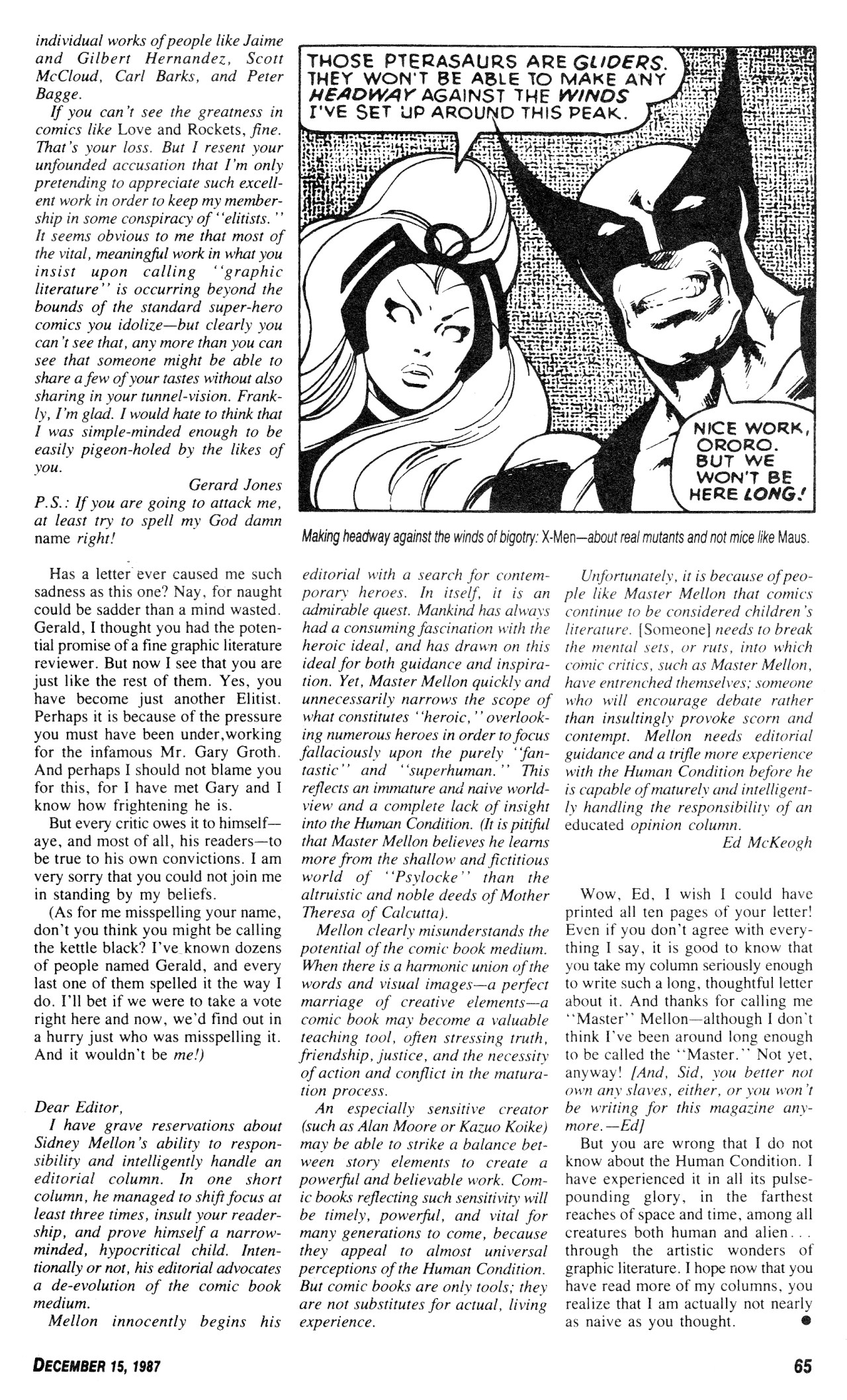 Read online Amazing Heroes comic -  Issue #131 - 65