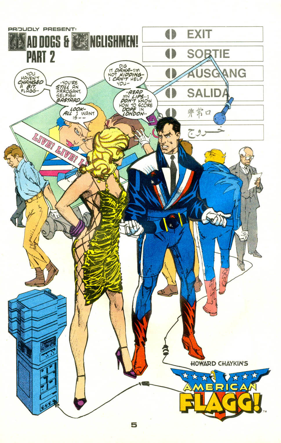Read online American Flagg! comic -  Issue #24 - 6