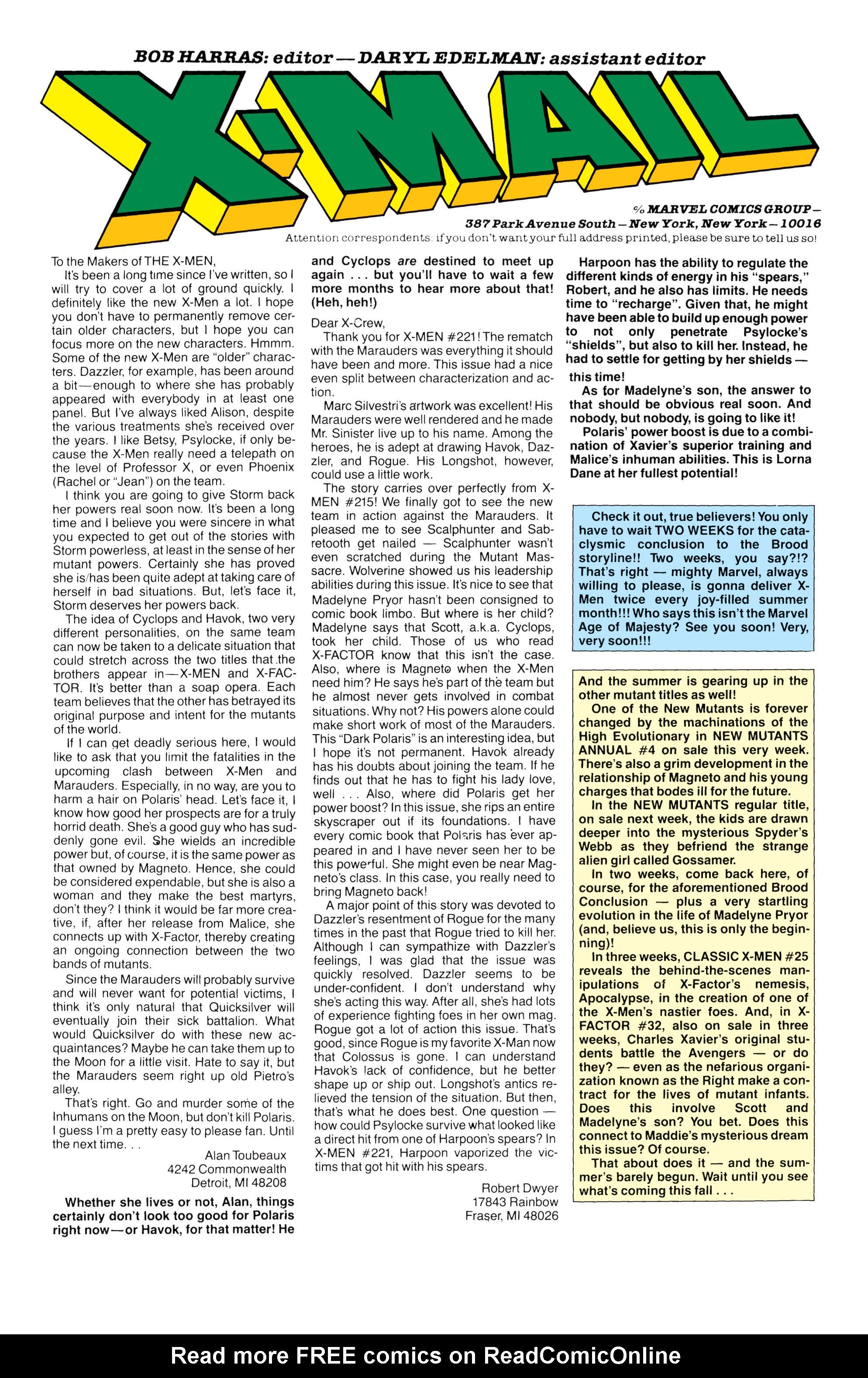 Read online Uncanny X-Men (1963) comic -  Issue #233 - 23