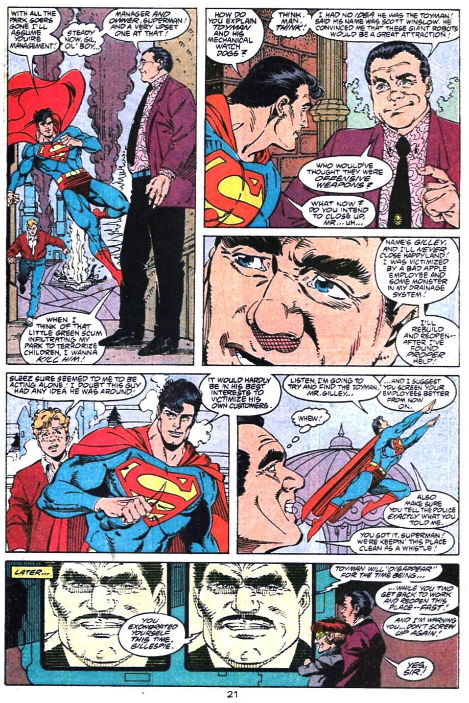 Read online Adventures of Superman (1987) comic -  Issue #475 - 22