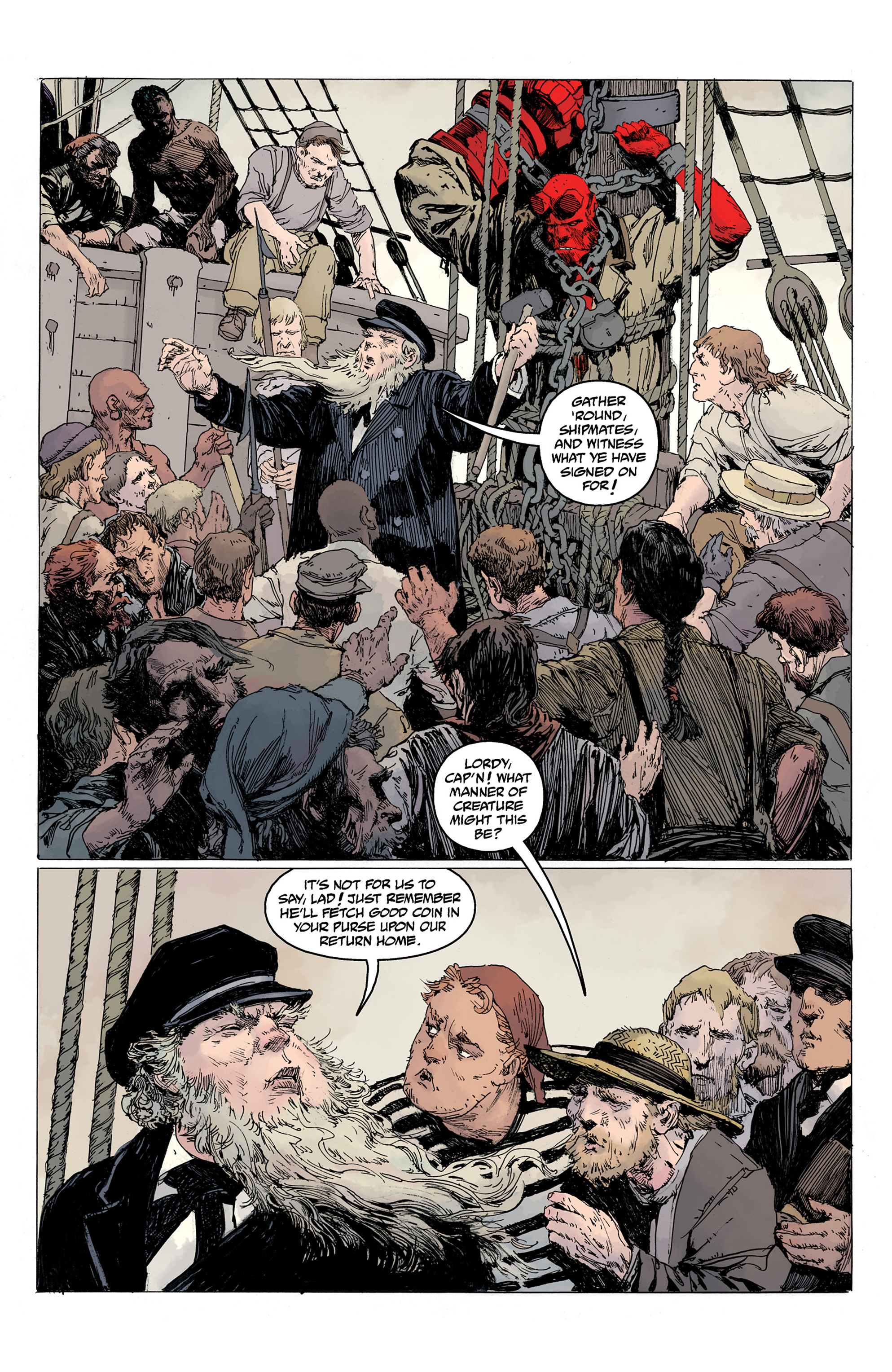 Read online Hellboy: Into the Silent Sea comic -  Issue # Full - 14