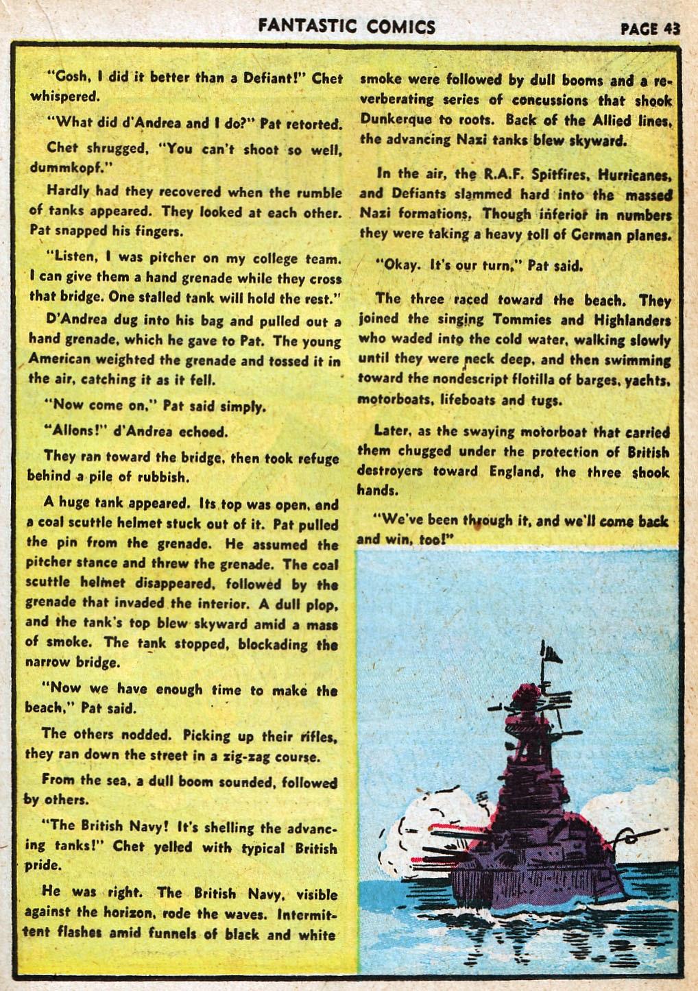 Read online Fantastic Comics comic -  Issue #20 - 43