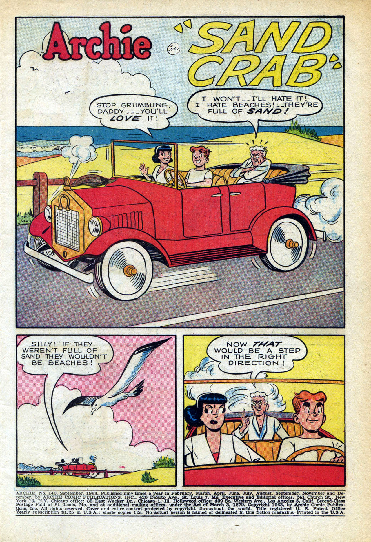 Read online Archie (1960) comic -  Issue #140 - 3